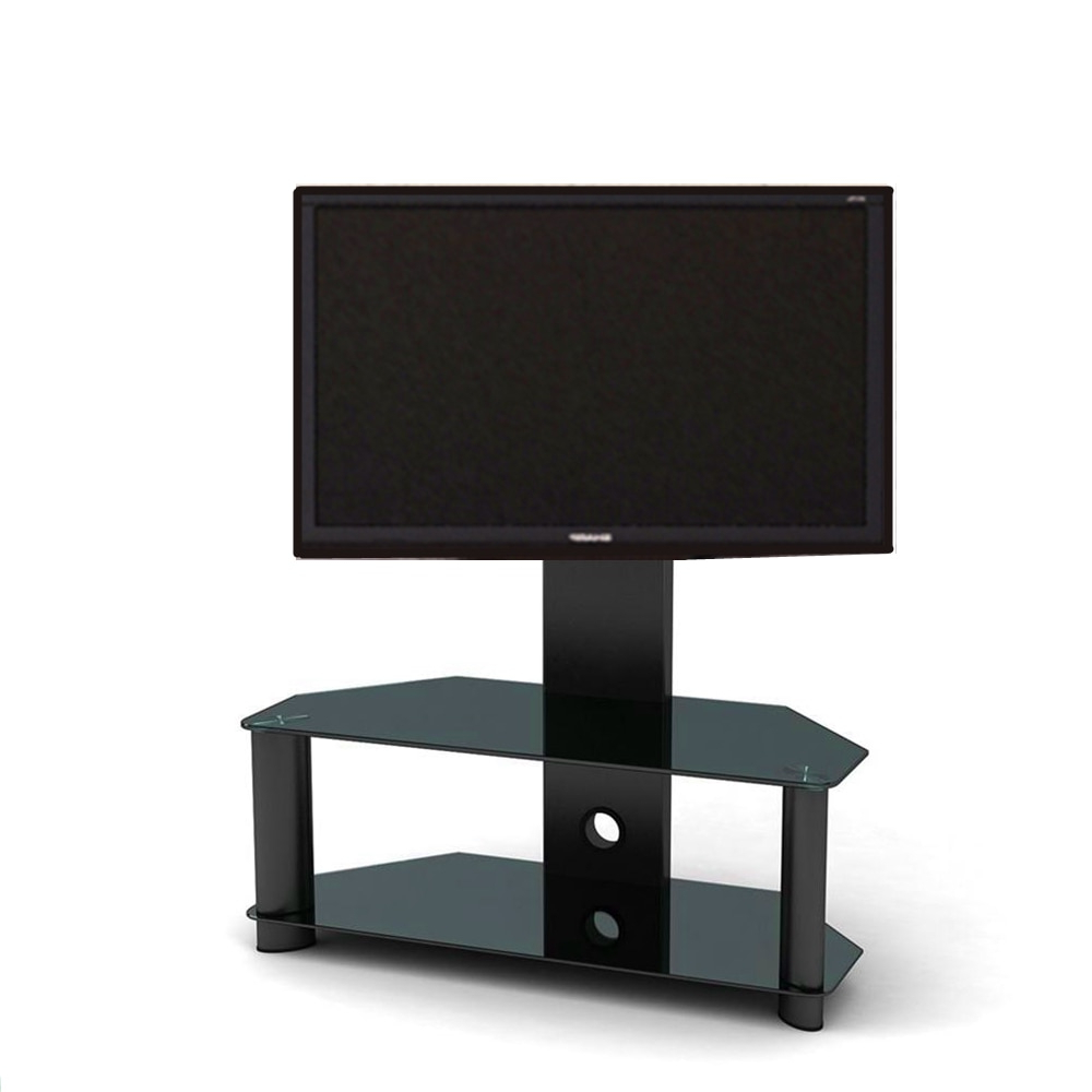 Cantilever Glass Tv Stand With Bracket For Plasma Lcd Tv Living Room With Regard To Most Up To Date Cantilever Glass Tv Stands (View 3 of 20)