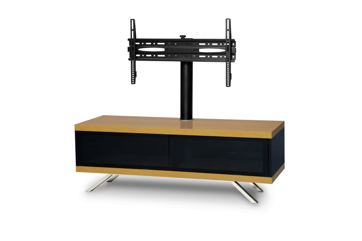 """Cantilever Tv Stands With Most Popular Mda Designs Tucana Hybrid Cantilever Tv Stand For Upto 60"""" Tvs – Oak – (View 7 of 20)"""