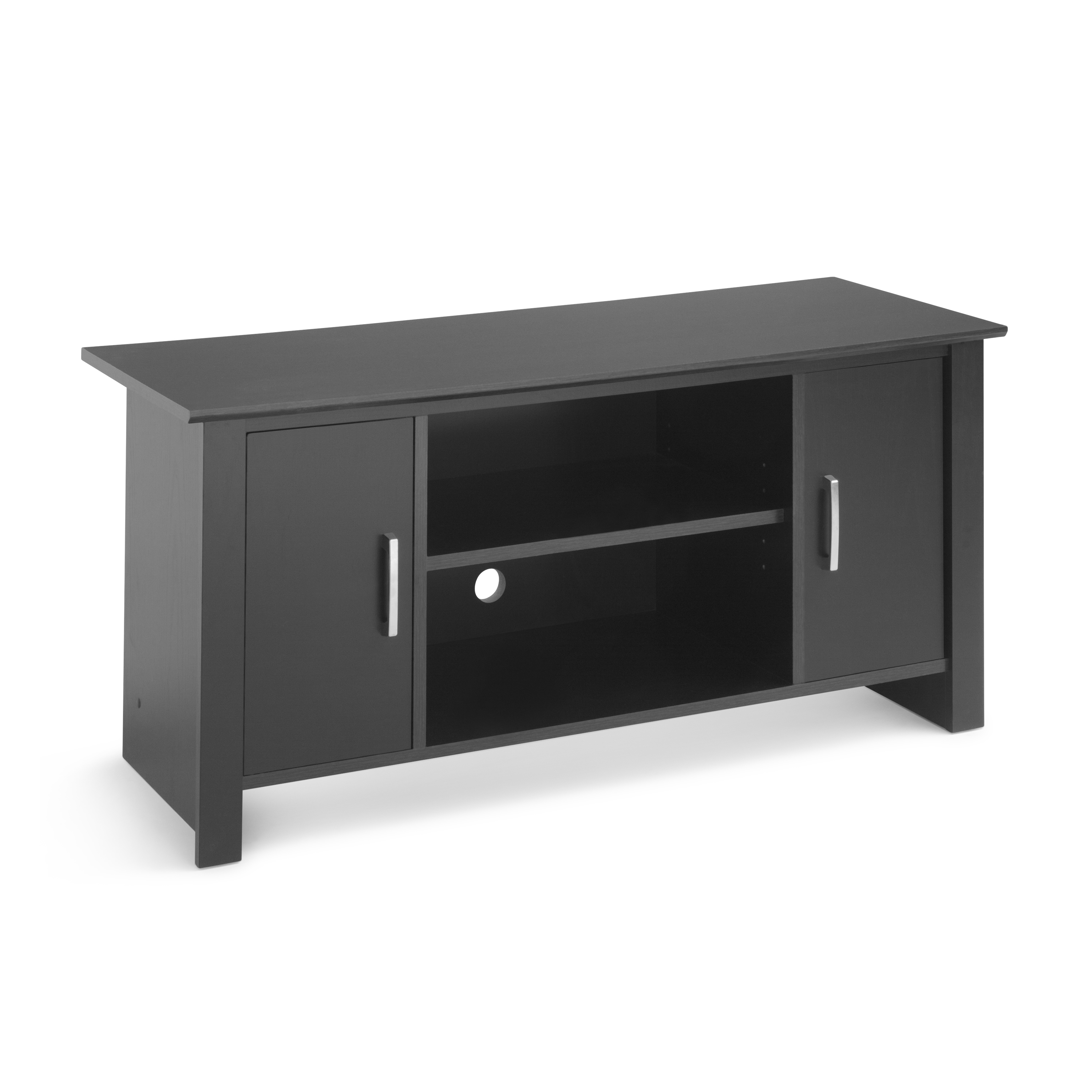 """Canyon 54 Inch Tv Stands Intended For Best And Newest Mainstays Tv Stand For Flat Screen Tvs Up To 47"""", True Black Oak (View 10 of 20)"""