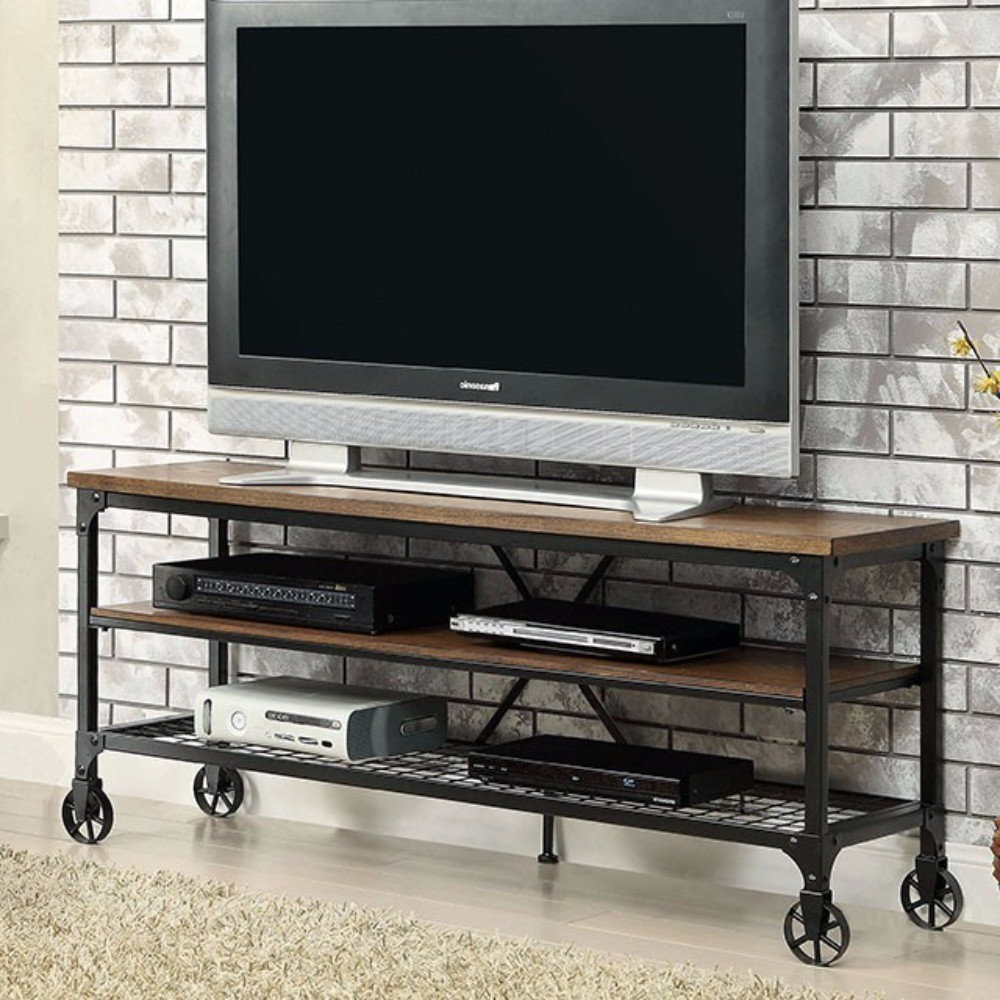 Canyon 54 Inch Tv Stands Regarding Latest Shop Ventura Li Metal And Wood Industrial 72 Inch Tv Stand – Free (View 17 of 20)
