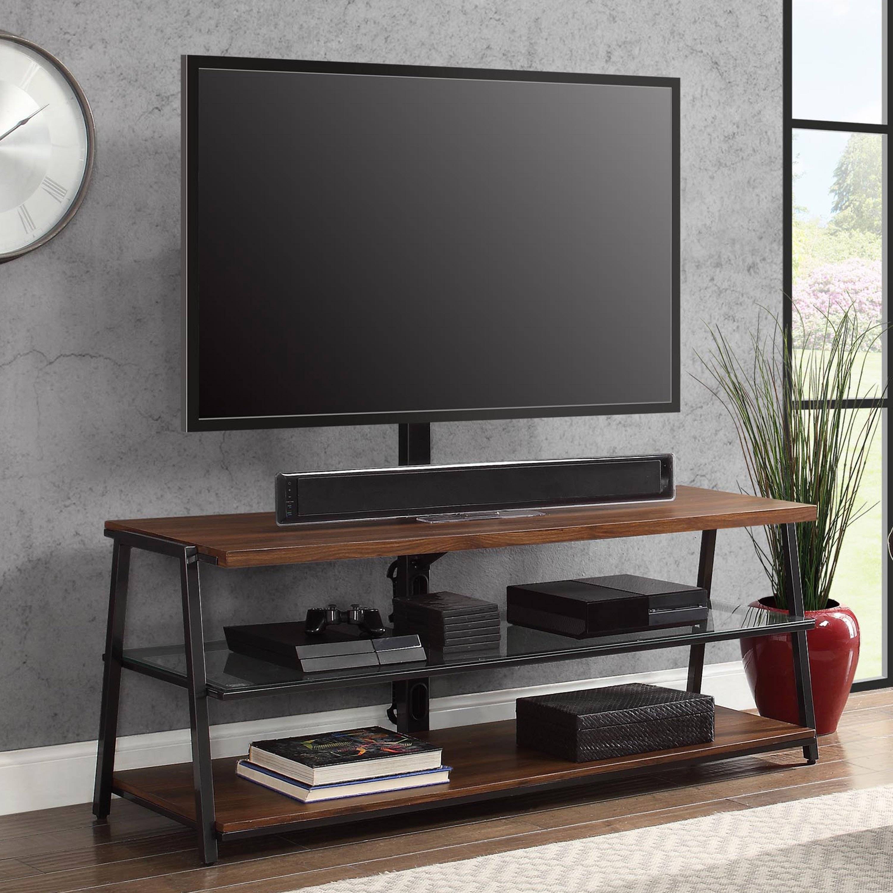 "Canyon 64 Inch Tv Stands With Regard To Famous Mainstays Arris 3 In 1 Tv Stand For Televisions Up To 70"", Perfect (View 17 of 20)"