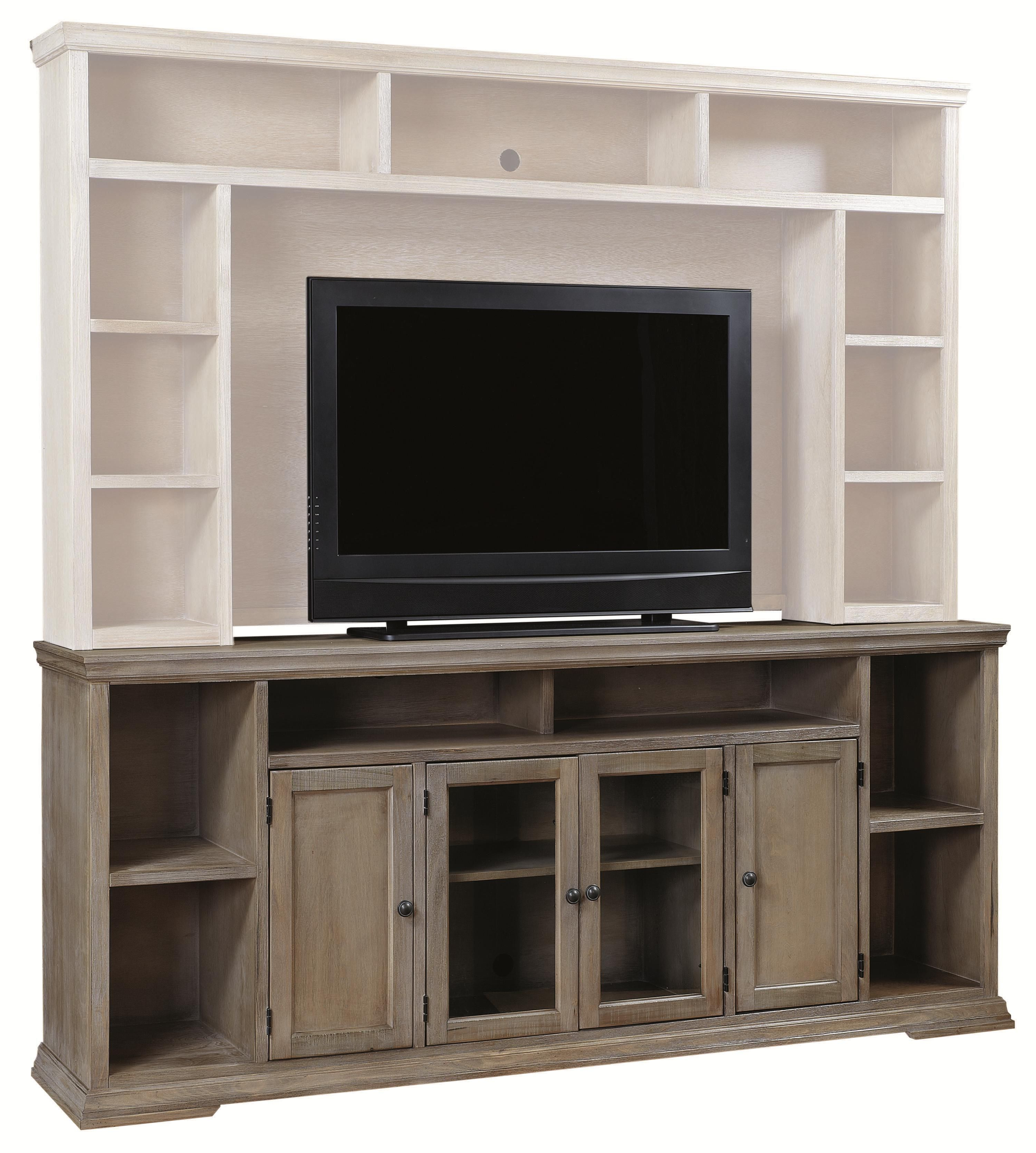 Canyon Creek 84 Inch Tv Console With 4 Doors And Open Shelf Storage In Fashionable Canyon 54 Inch Tv Stands (View 7 of 20)