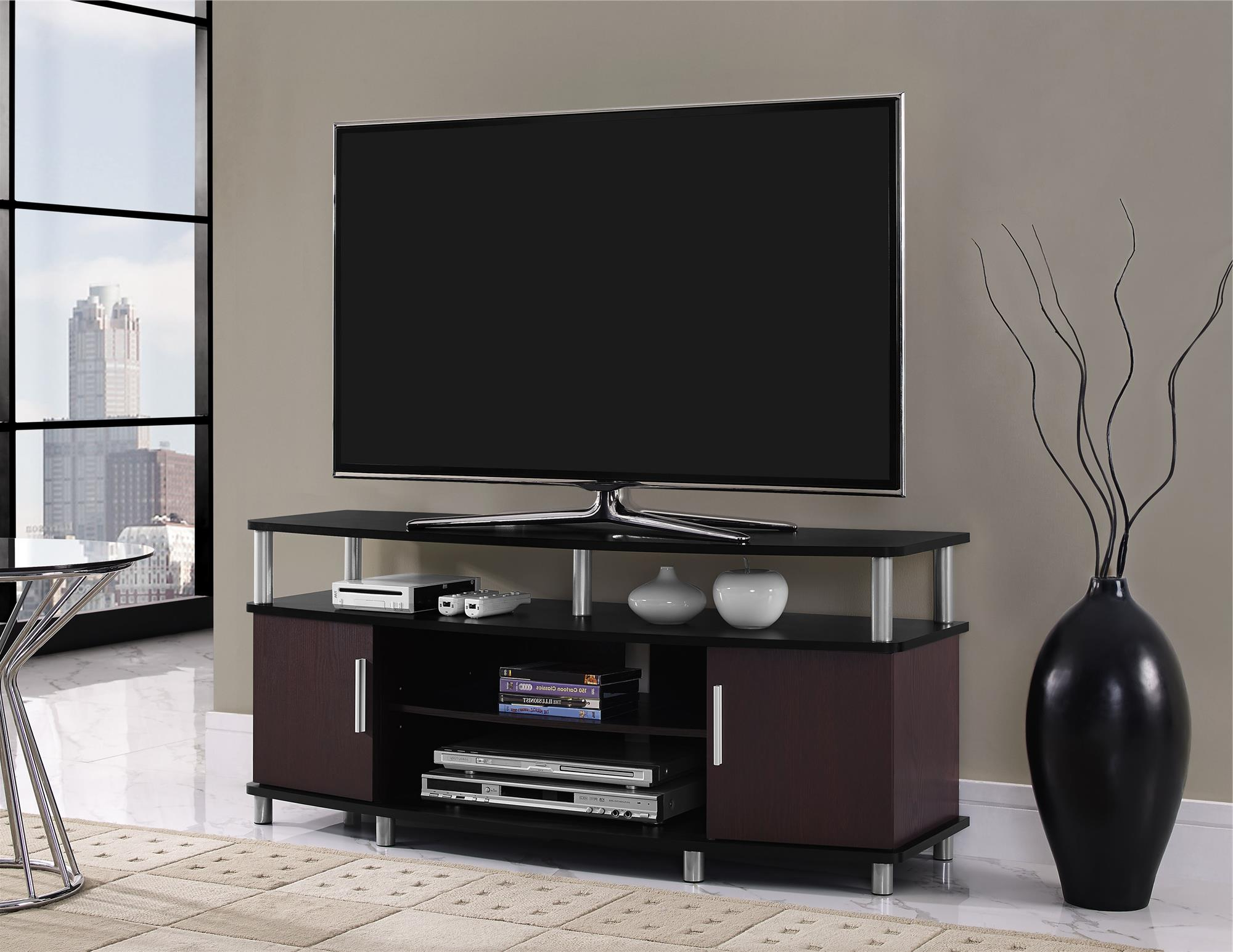 "Carson Tv Stand For Tvs Up To 50"", Cherry (View 6 of 20)"