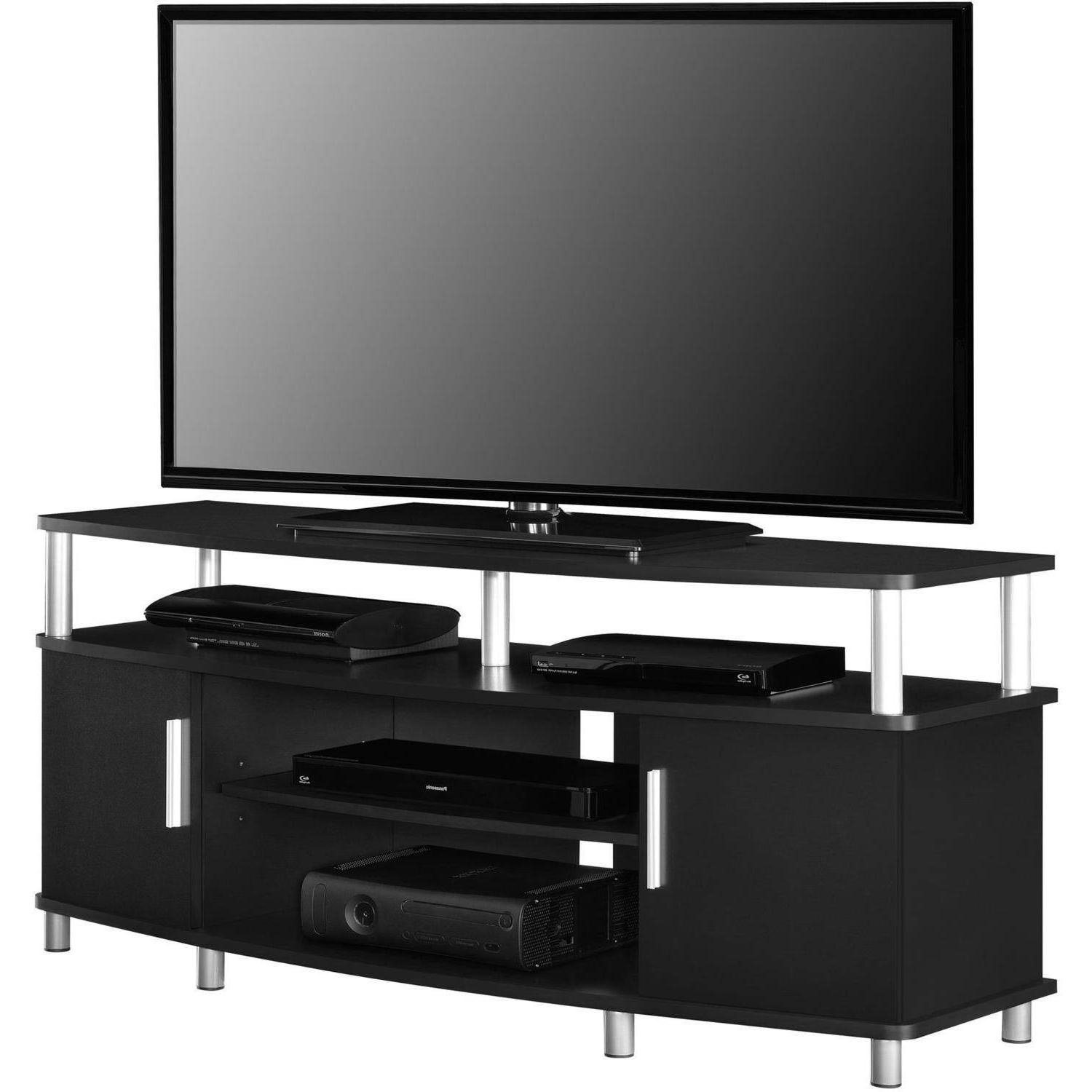 "Carson Tv Stand, For Tvs Up To 50"", Multiple Finishes – Walmart Inside Latest Small Black Tv Cabinets (View 19 of 20)"