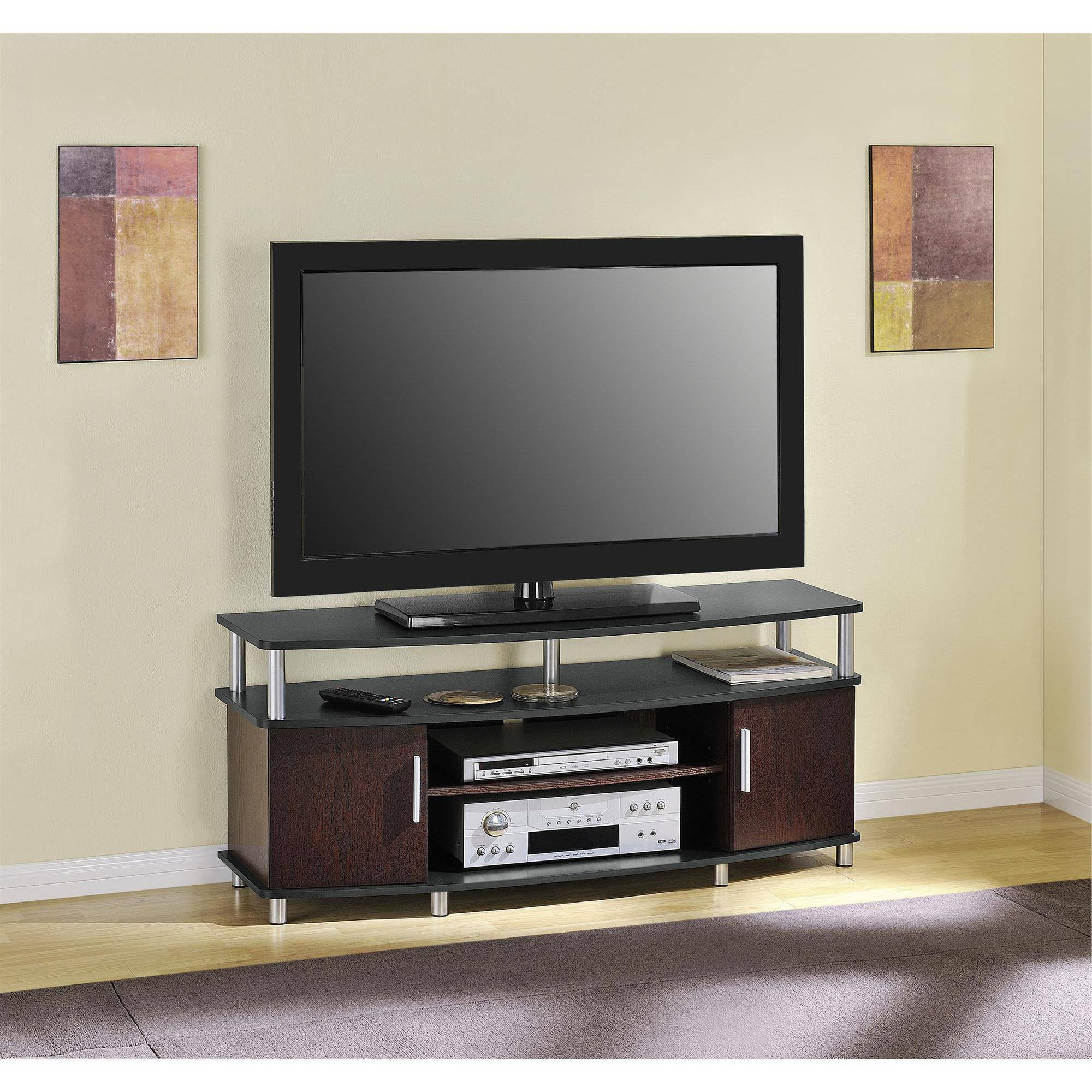"Carson Tv Stand, For Tvs Up To 50"", Multiple Finishes – Walmart Regarding Newest Wooden Tv Stands For Flat Screens (Gallery 7 of 20)"