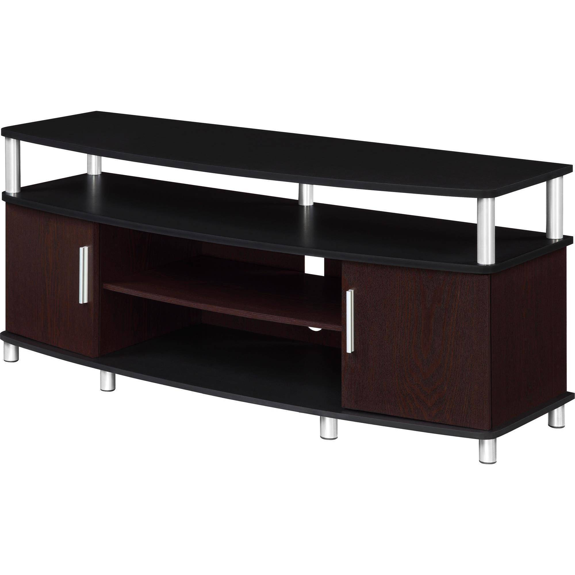 "Carson Tv Stand, For Tvs Up To 50"", Multiple Finishes – Walmart Regarding Recent Tv Stands With Drawers And Shelves (View 10 of 20)"