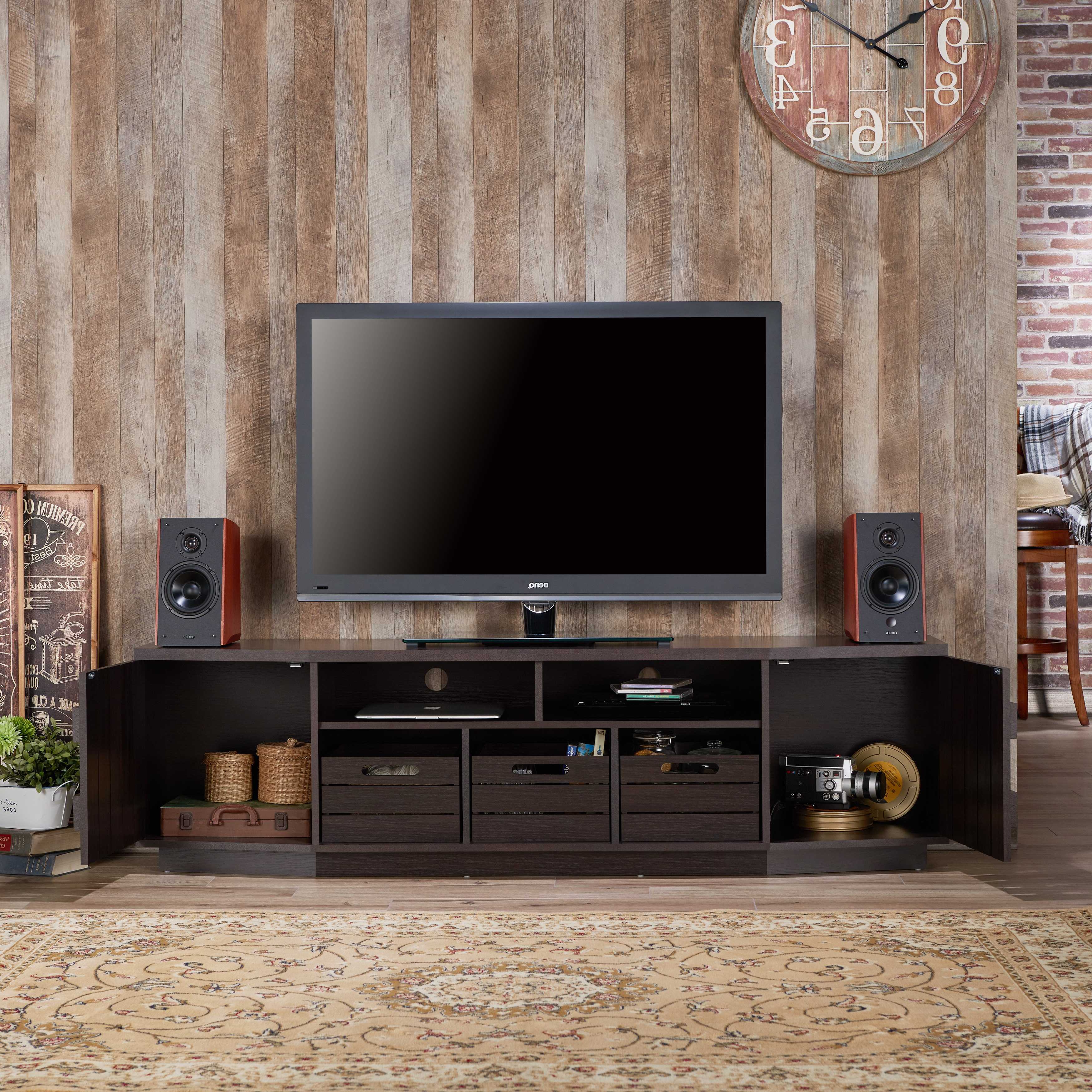 Casey Grey 54 Inch Tv Stands Inside Widely Used Shop Furniture Of America Harla Rustic 70 Inch Tv Stand With (View 8 of 20)