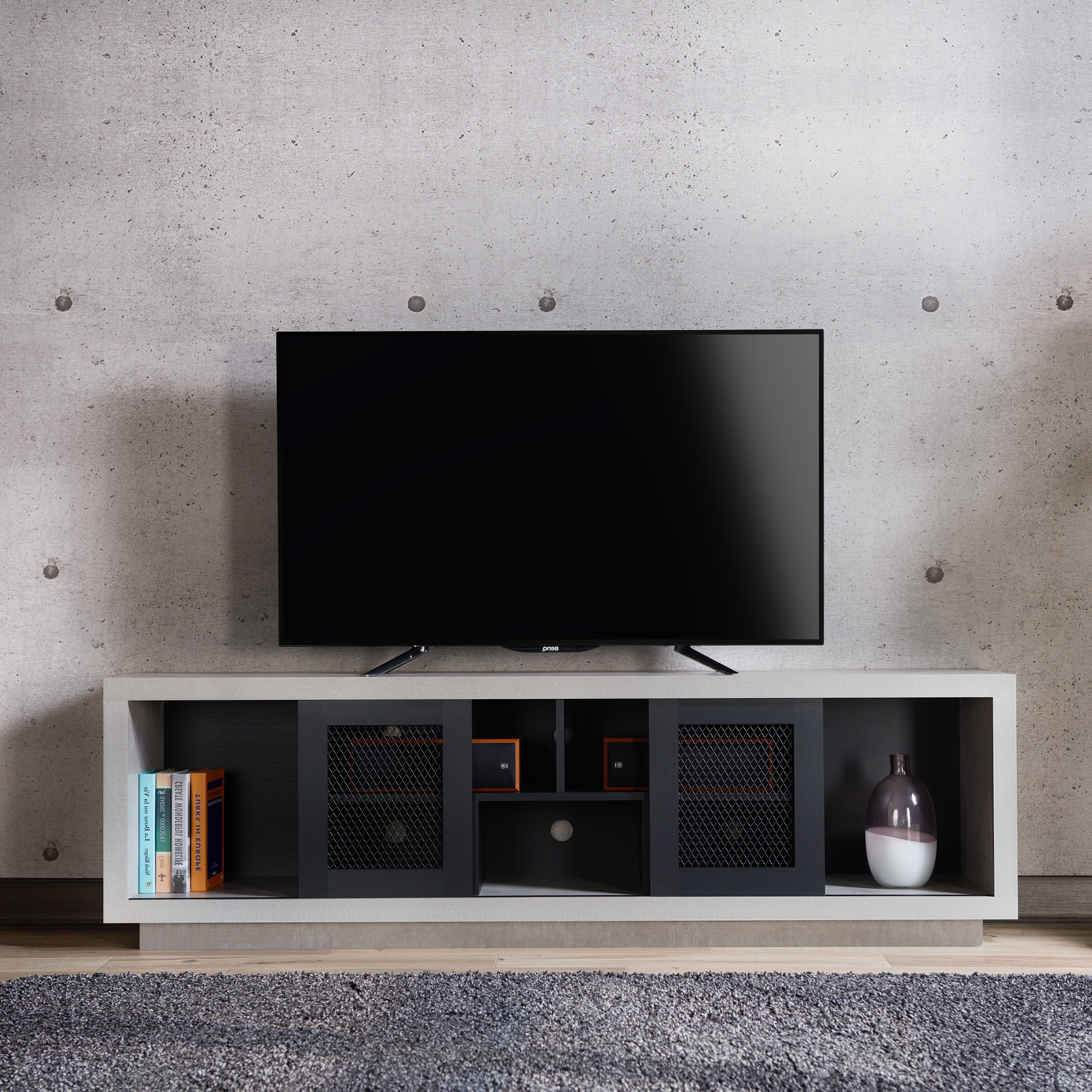 Casey Umber 54 Inch Tv Stands For Widely Used Shop Furniture Of America Selefin Industrial Cement Like Multi (View 9 of 20)