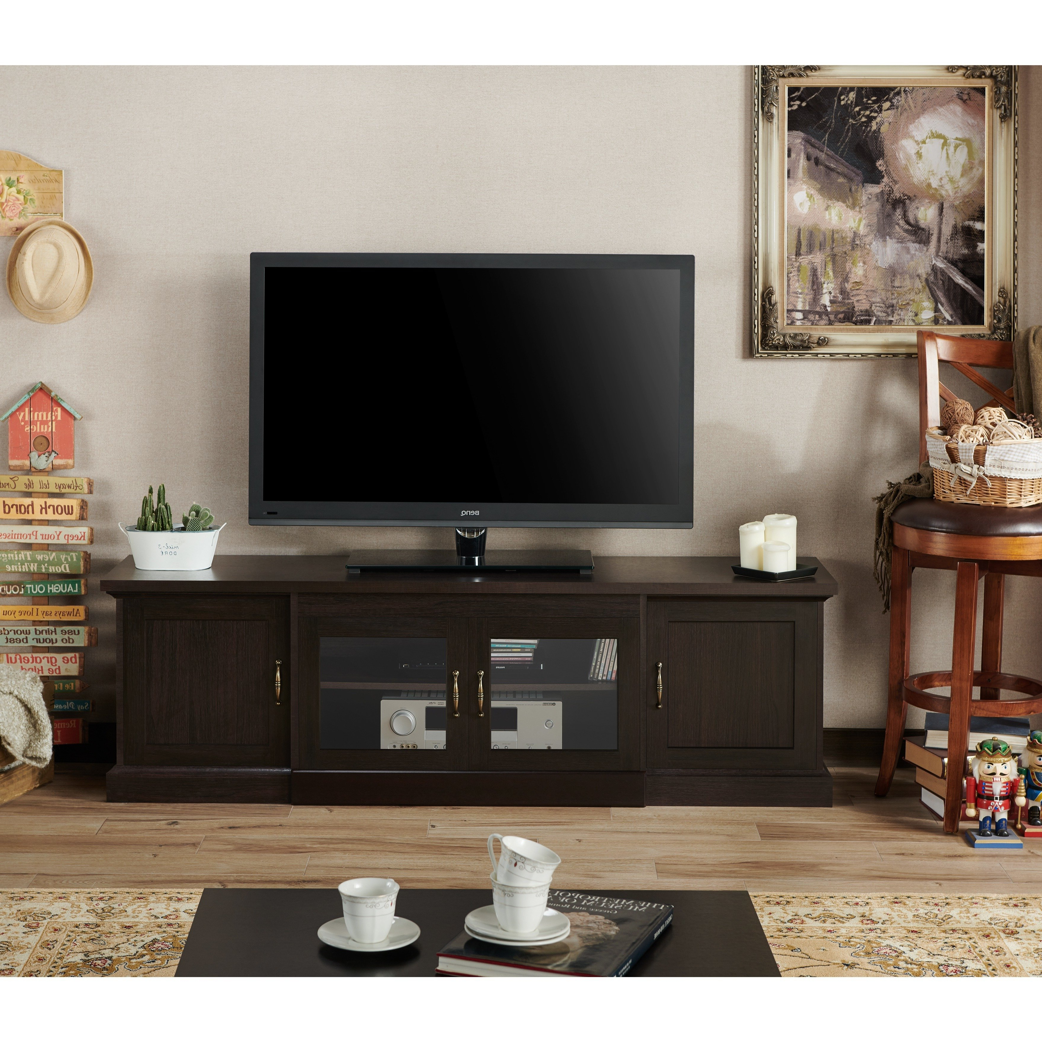 Casey Umber 74 Inch Tv Stands Pertaining To Widely Used Shop Walder Rustic 68 Inch Tv Standfoa – On Sale – Free Shipping (View 13 of 20)
