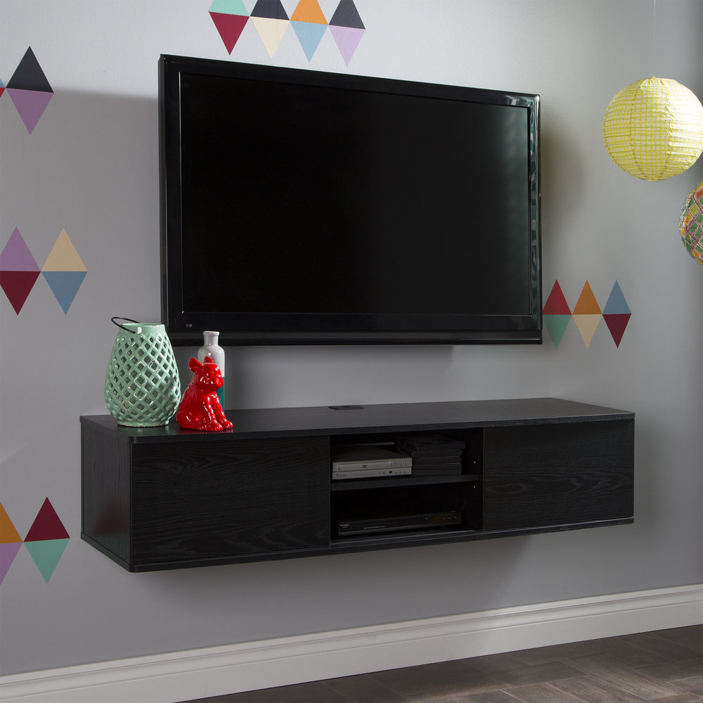 Casey Umber 74 Inch Tv Stands Within Latest South Shore Agora Wall Mounted Media Console Tv Stand For Tvs Up To (View 7 of 20)