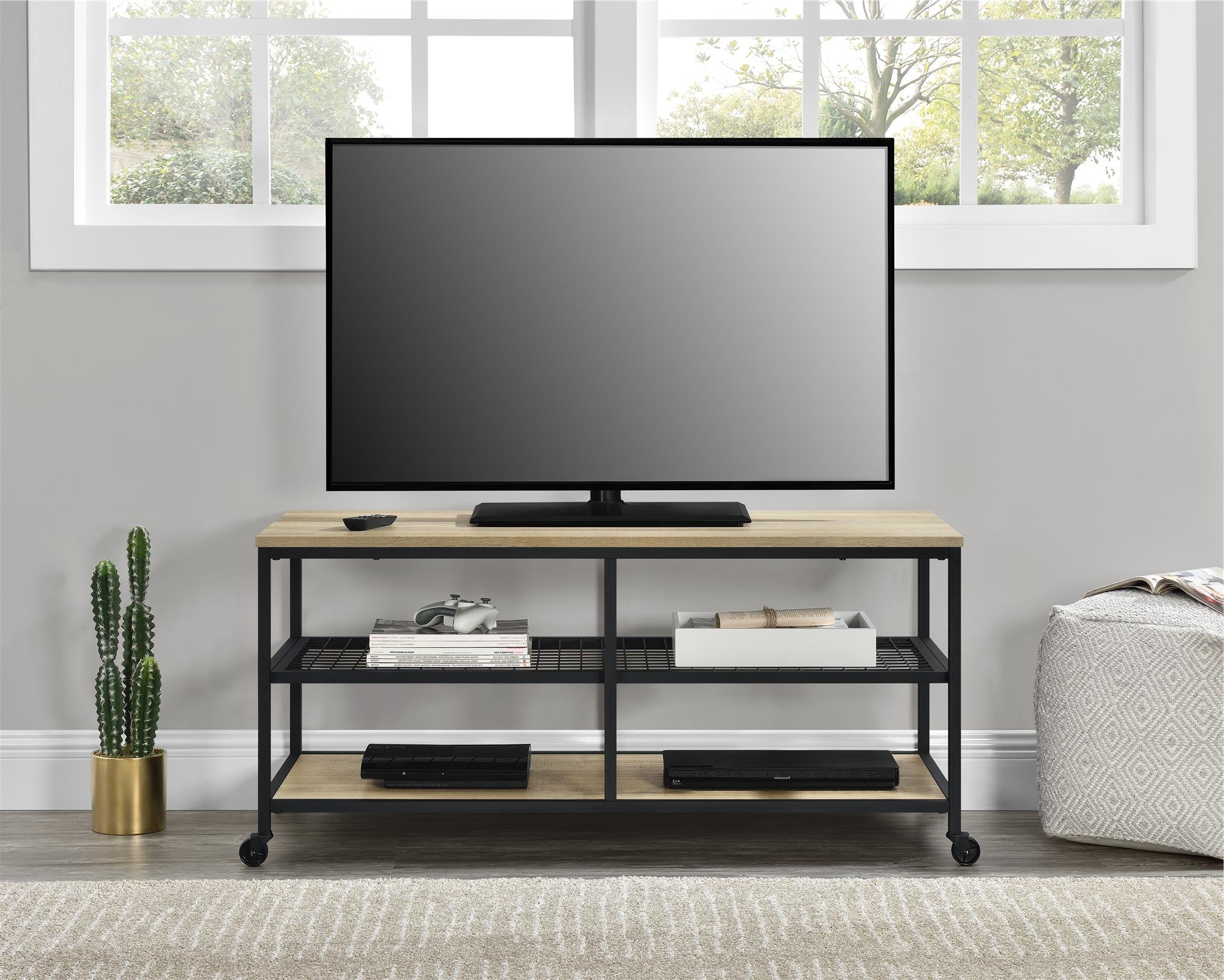 Cast Iron Tv Stands Throughout Best And Newest Industrial Tv Stands You'll Love (View 8 of 20)