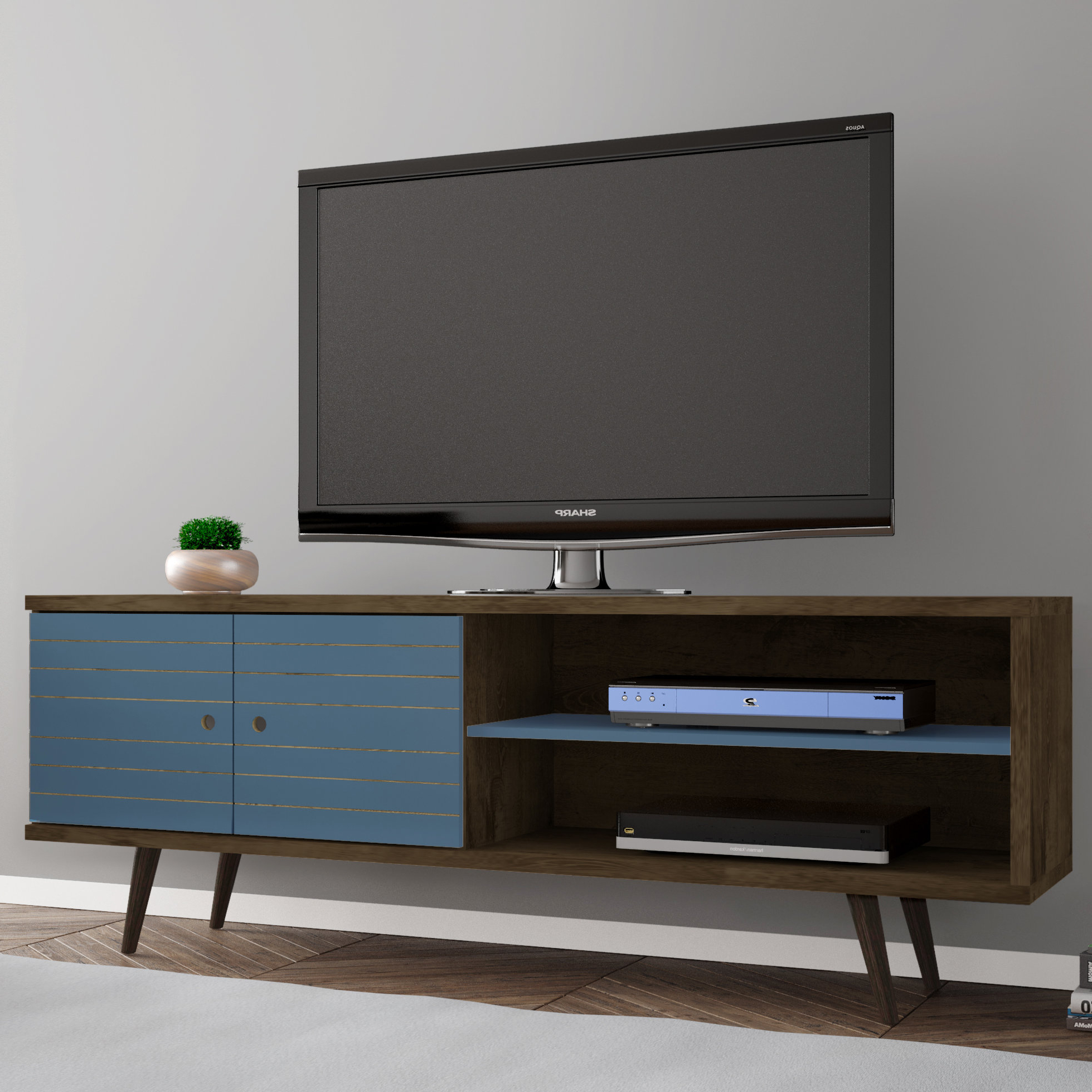 Century Sky 60 Inch Tv Stands In Well Known Blue Tv Stands You'll Love (View 9 of 20)