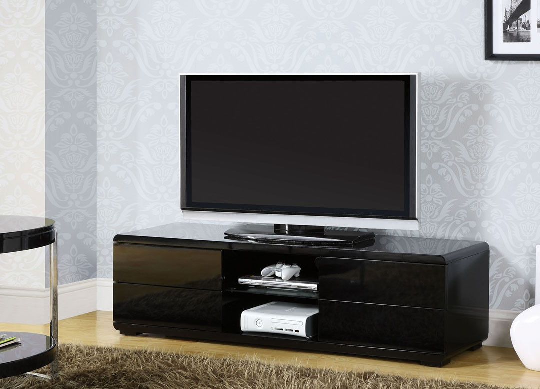 Cerro Black Contemporary Tv Stand Inside Most Recently Released Contemporary Tv Stands (Gallery 2 of 20)