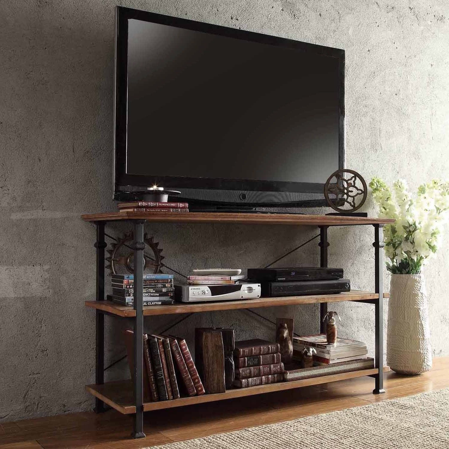 Cheap Metal And Wood Tv Stand, Find Metal And Wood Tv Stand Deals On With Most Current Reclaimed Wood And Metal Tv Stands (View 17 of 20)