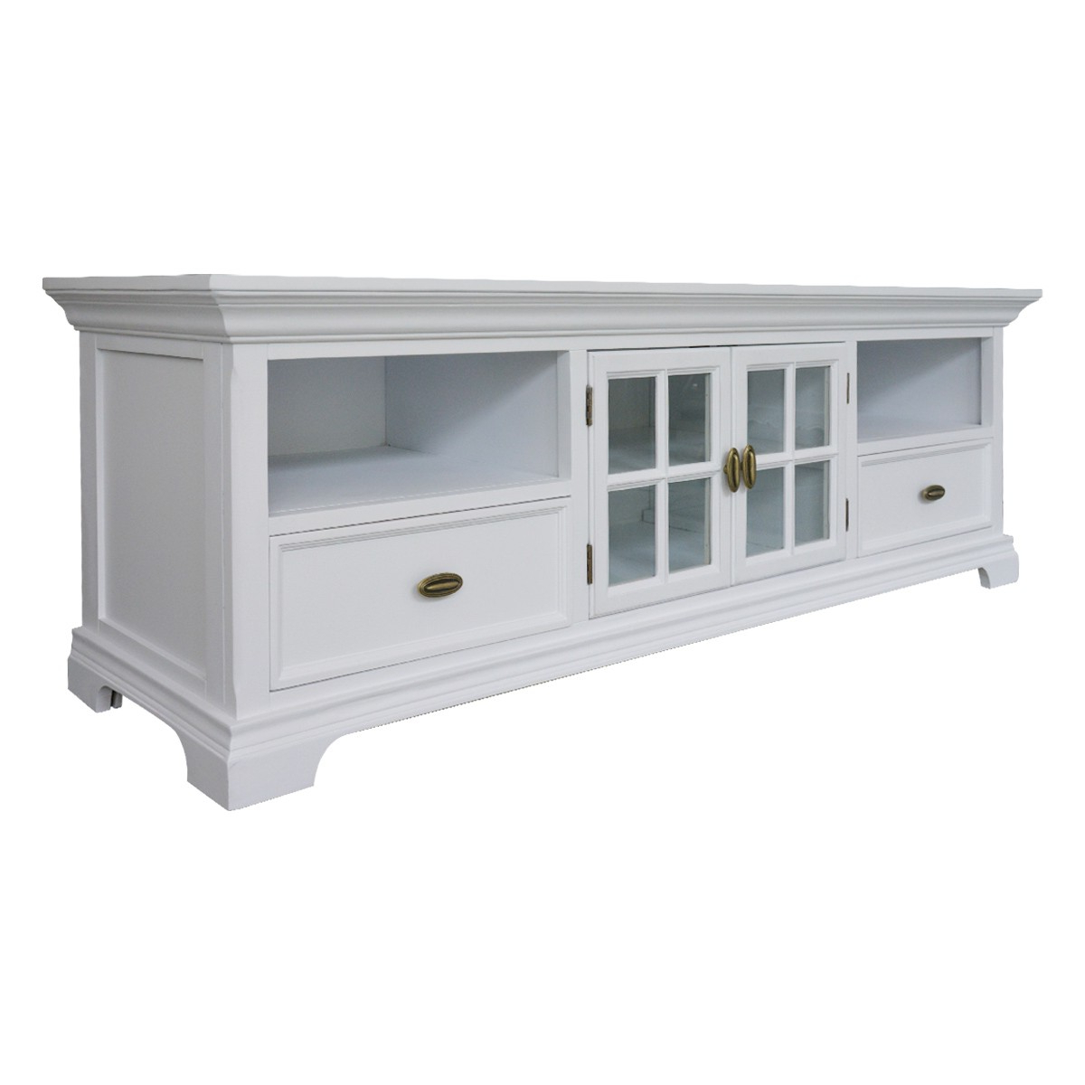 Cheap White Tv Stands With Regard To Popular Hamptons Halifax White Tv Unit Entertainment Stand – Wholesales Direct (View 7 of 20)