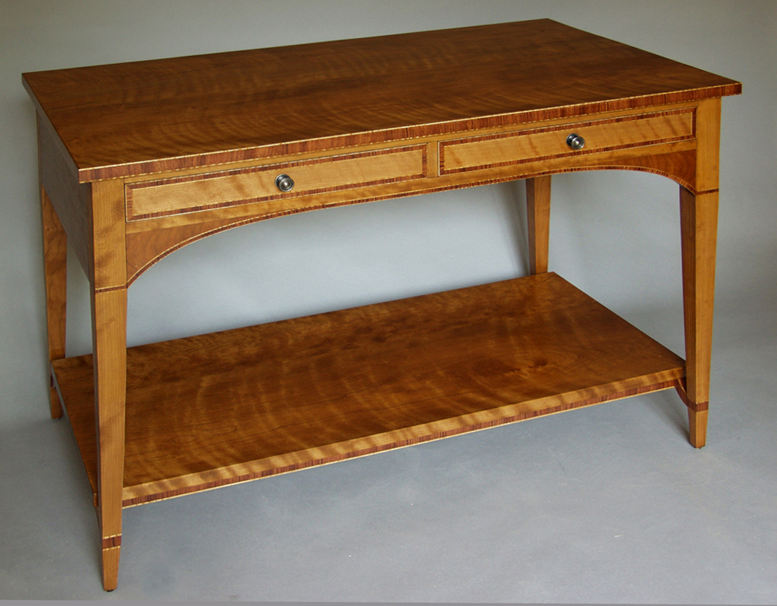 Cherry And Bubinga Console (View 3 of 20)