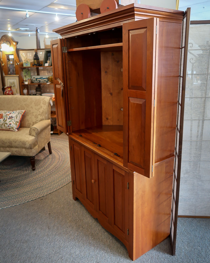 Cherry Corner Tv Armoire (View 4 of 20)