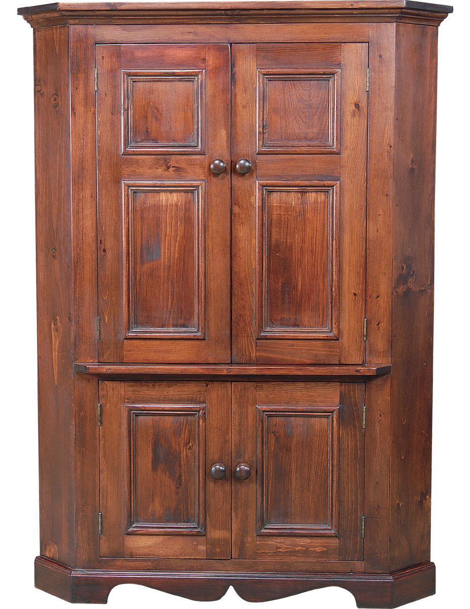 Cherry Tv Armoire Within Trendy French Country Corner Tv Armoire Black Cherry Stain – Example # (View 7 of 20)