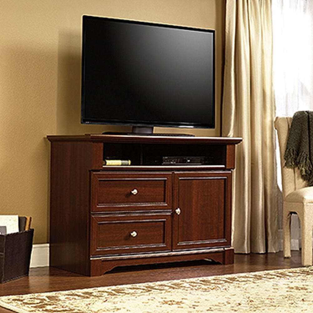 Cherry Wood Tv Stands Inside Newest Sauder Palladia Select Cherry Storage Entertainment Center (View 7 of 20)