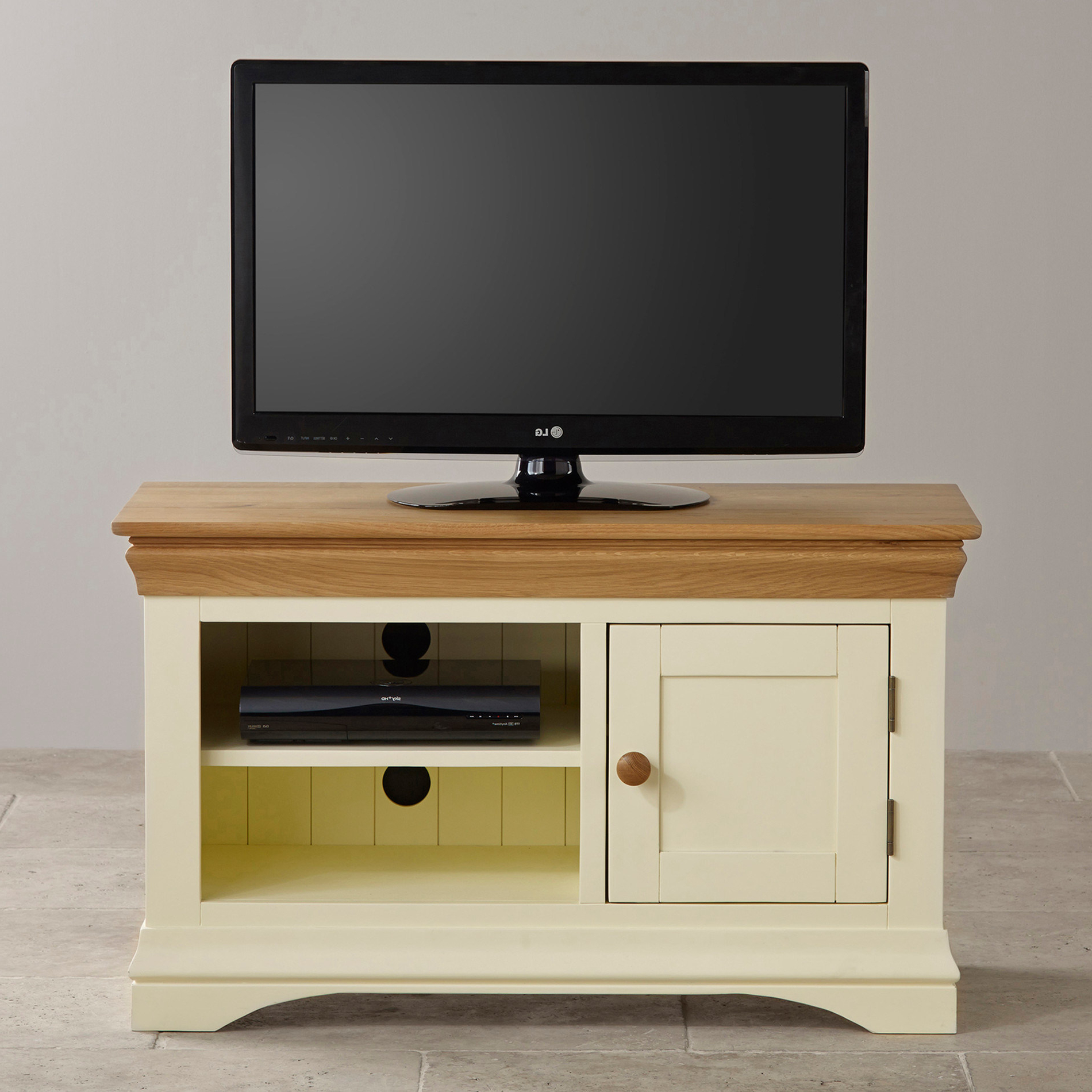 China Painted White Oak Solid Wood Small Screen Tv Stand Cabinet In Popular Painted Tv Stands (Gallery 13 of 20)