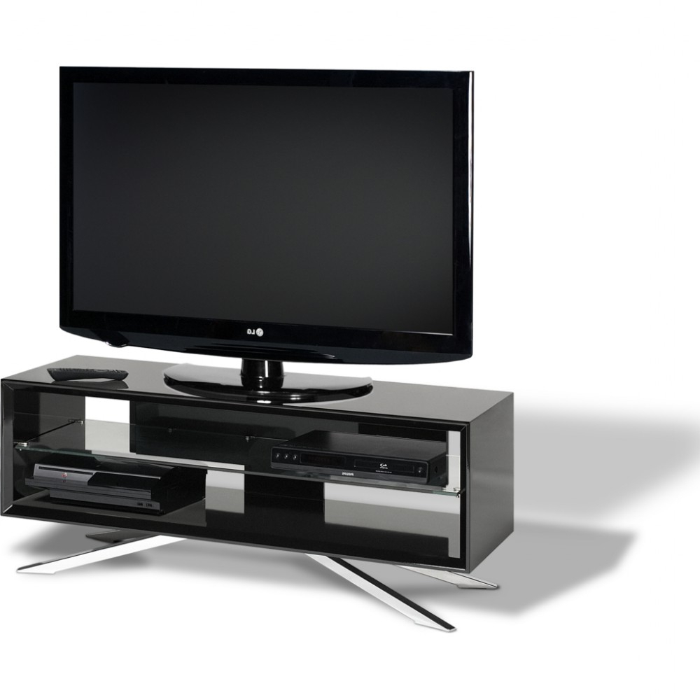 Chrome Plated Pyramidal Base; Cable Management And Power Strip With Regard To Well Liked Techlink Arena Tv Stands (Gallery 4 of 20)