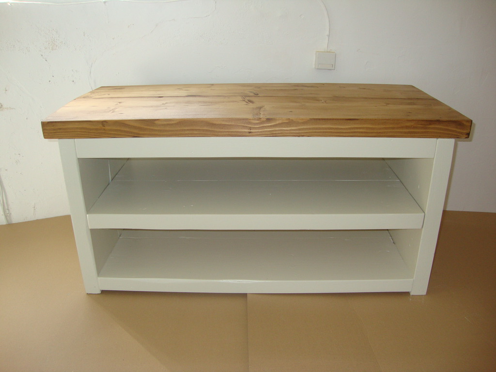 Chunky Rustic Solid Timber Tv Unit Painted Pertaining To Tv Unit 100cm (View 7 of 20)