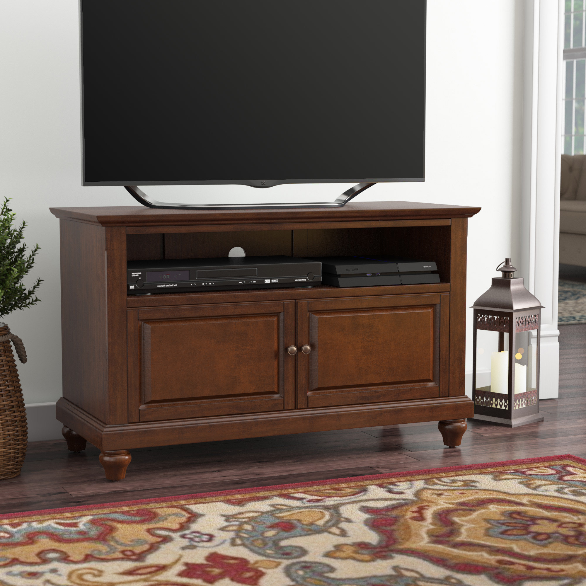 "Chunky Tv Cabinets With Trendy Three Posts Goreville Tv Stand For Tvs Up To 42"" & Reviews (View 3 of 20)"