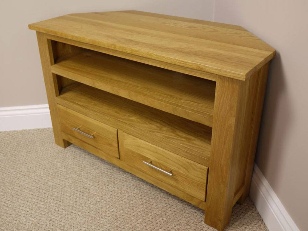 Chunky Wood Tv Units Pertaining To Trendy Oakland Chunky Oak Corner Tv Unit / Plasma Tv Stand / Corner Tv (View 6 of 20)