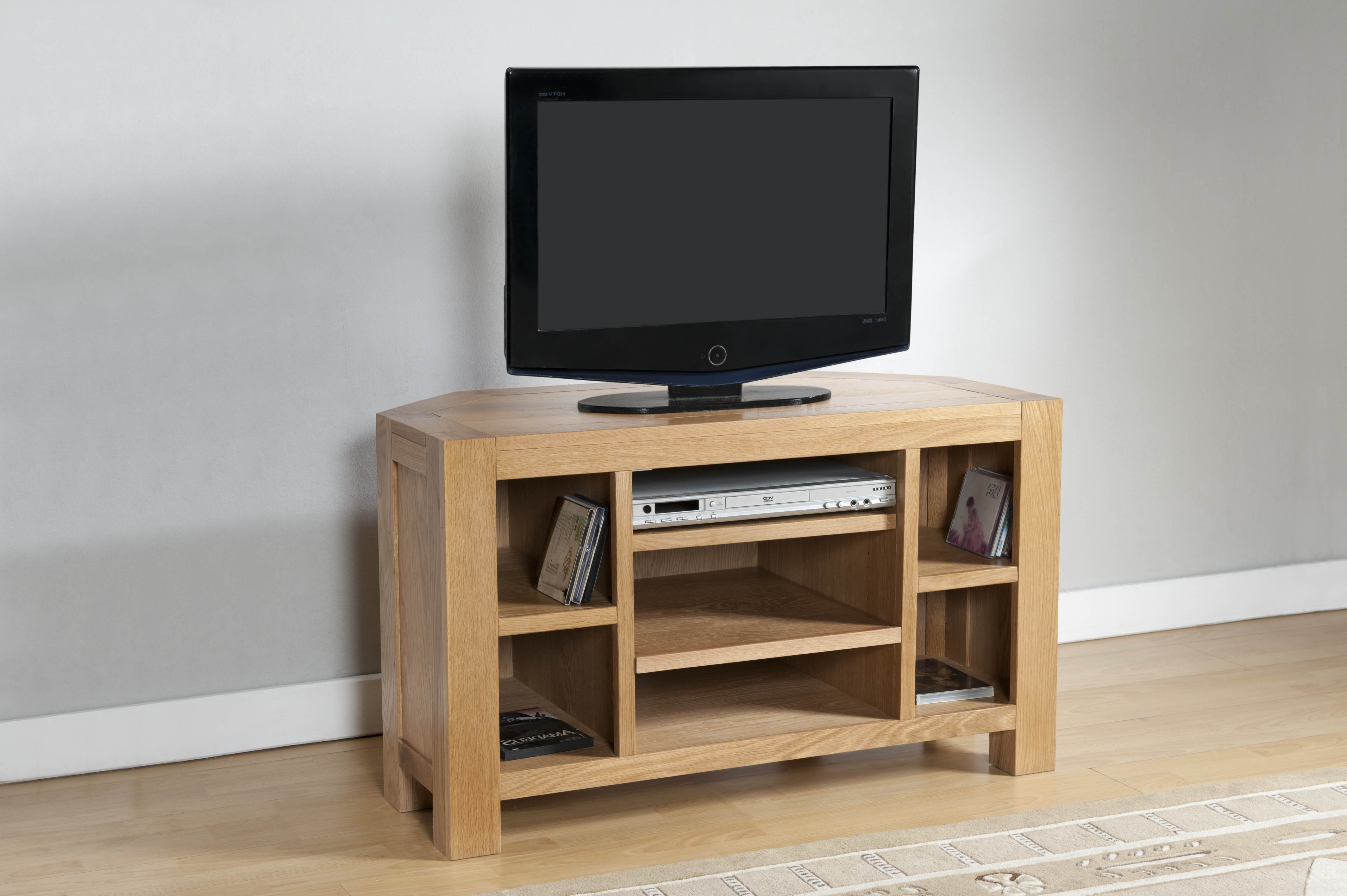 Chunky Wood Tv Units With Regard To Best And Newest Corner Tv Unit (24 23) – Papaya Trading (Gallery 20 of 20)