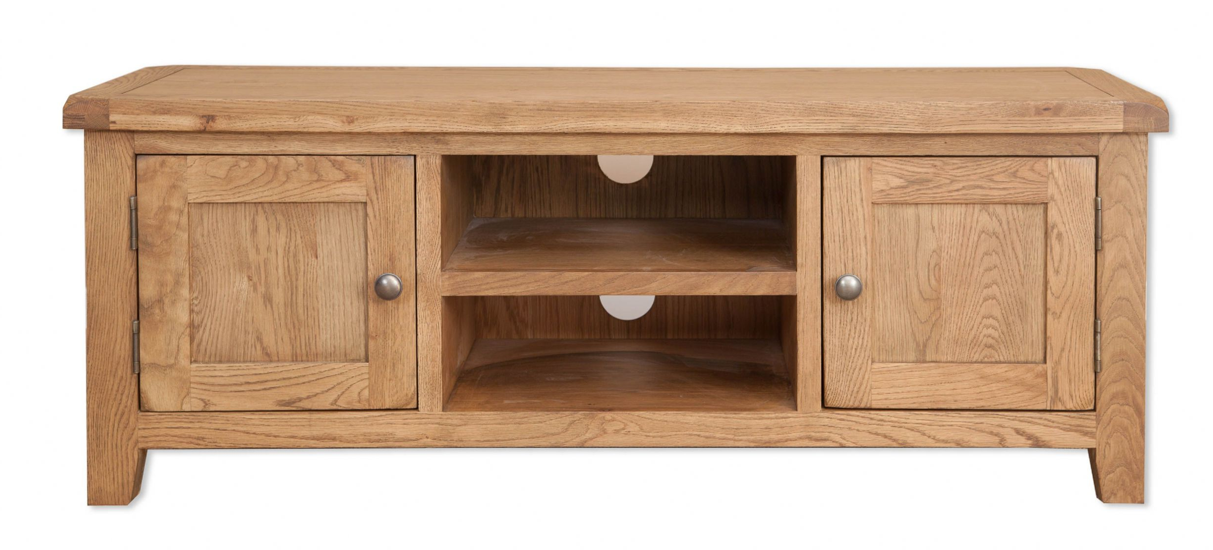 Chunky Wood Tv Units Within Most Recently Released Hampton Country Chunky Oak Plasma Tv Unit (View 8 of 20)