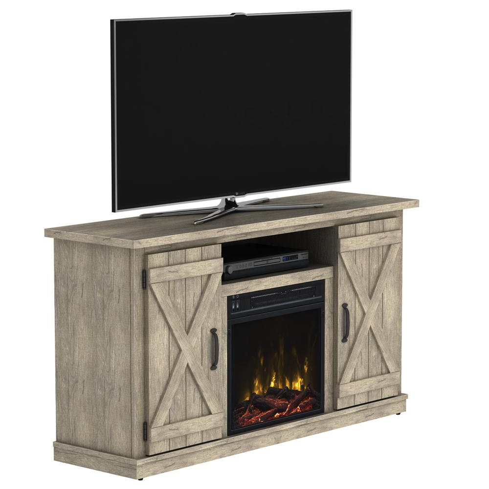 Classic Flame Cottonwood 47.50 In. Media Console Electric Fireplace Within Newest Kilian Grey 60 Inch Tv Stands (Gallery 13 of 20)