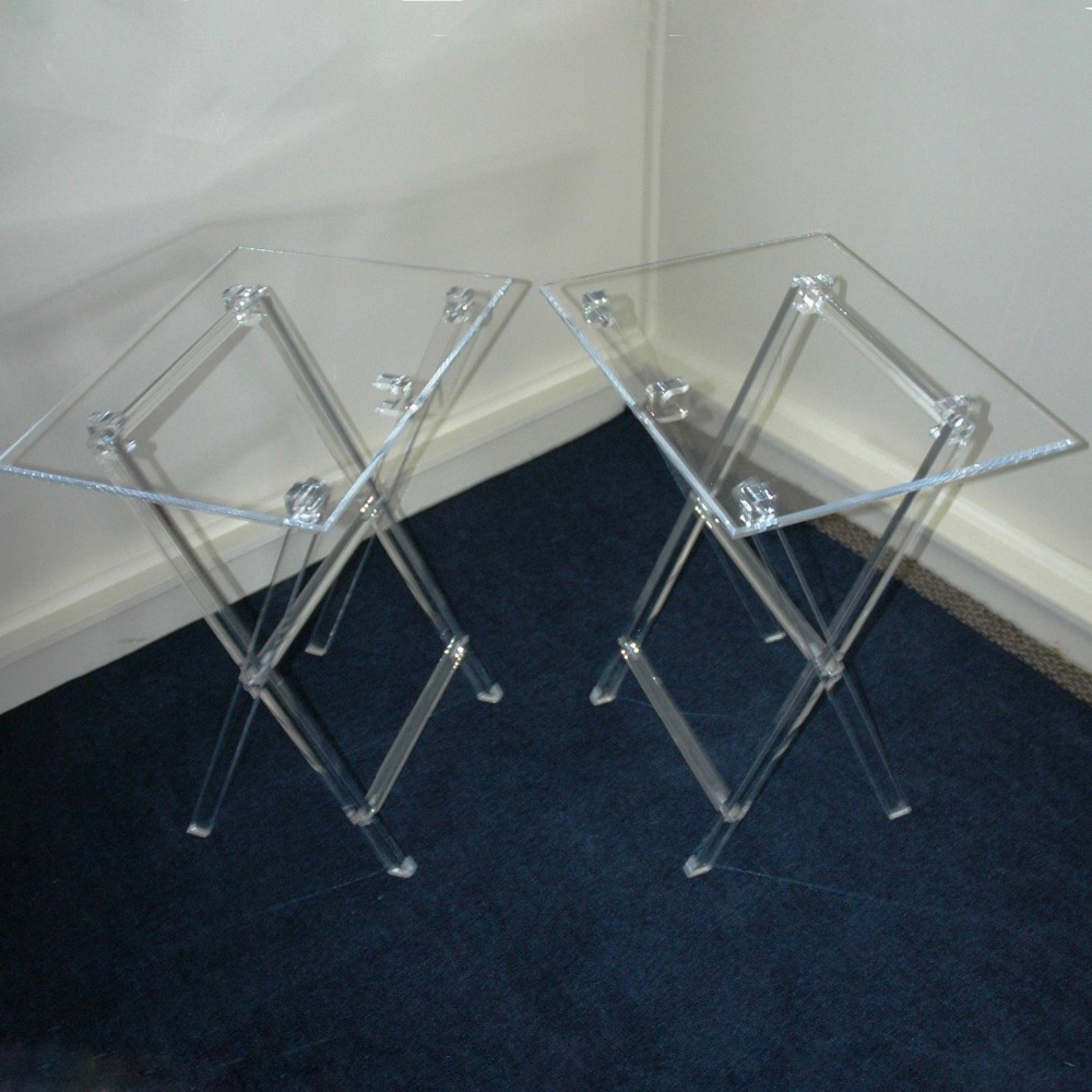 Clear Acrylic Tv Stands Inside Trendy Clear Acrylic Folding Tv Tray Table Tv Stand,snack Tray Snack Table (View 3 of 20)