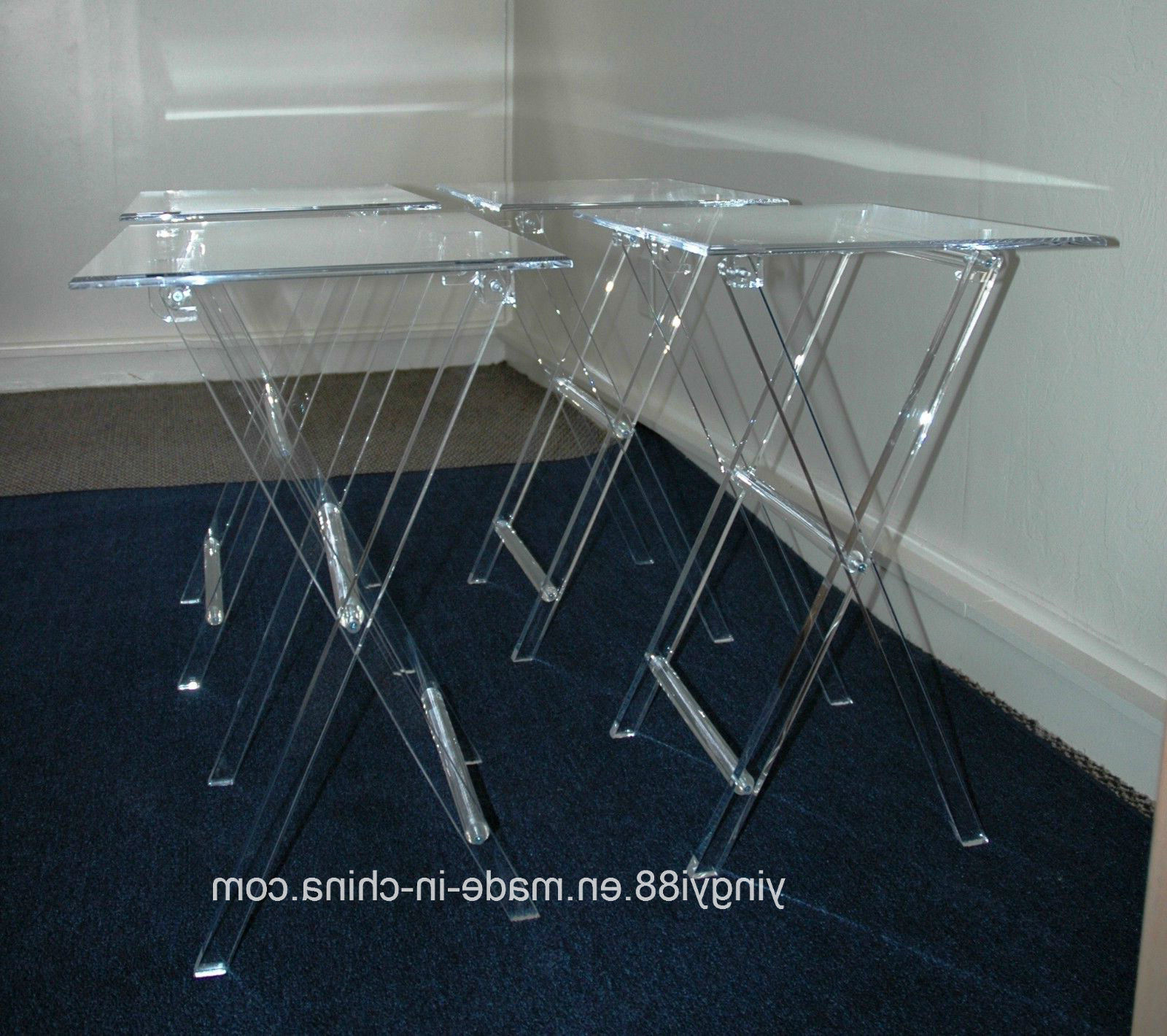 Clear Acrylic Tv Stands With Most Current China Custom Clear Acrylic Table Tv Stand With Tray Photos (View 5 of 20)