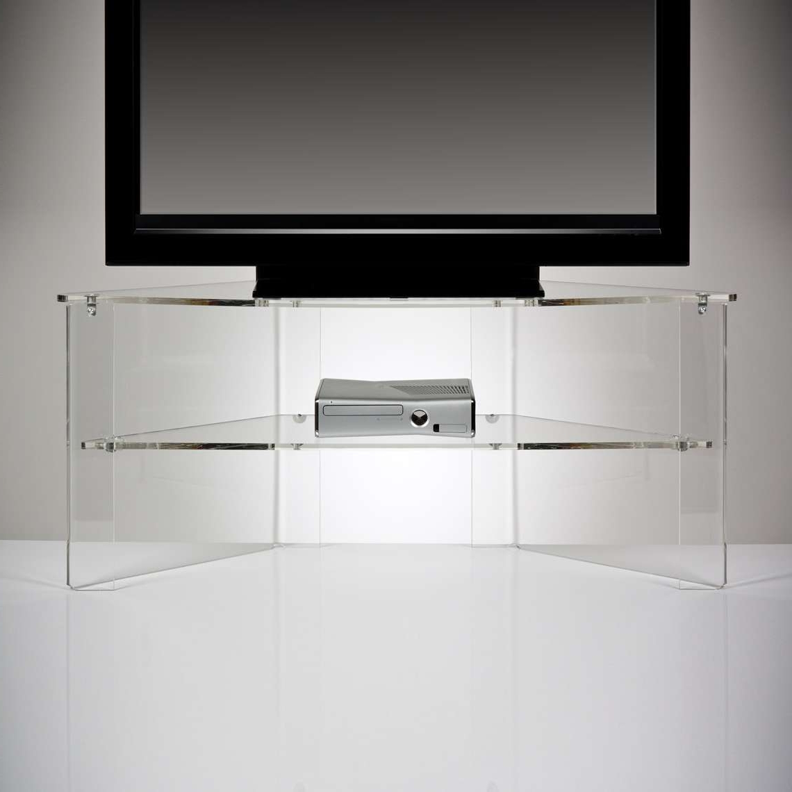 Clear Acrylic Tv Stands With Regard To 2017 Clear Acrylic Tv Stands Decor Innovative 1140×1140 Attachment (View 6 of 20)