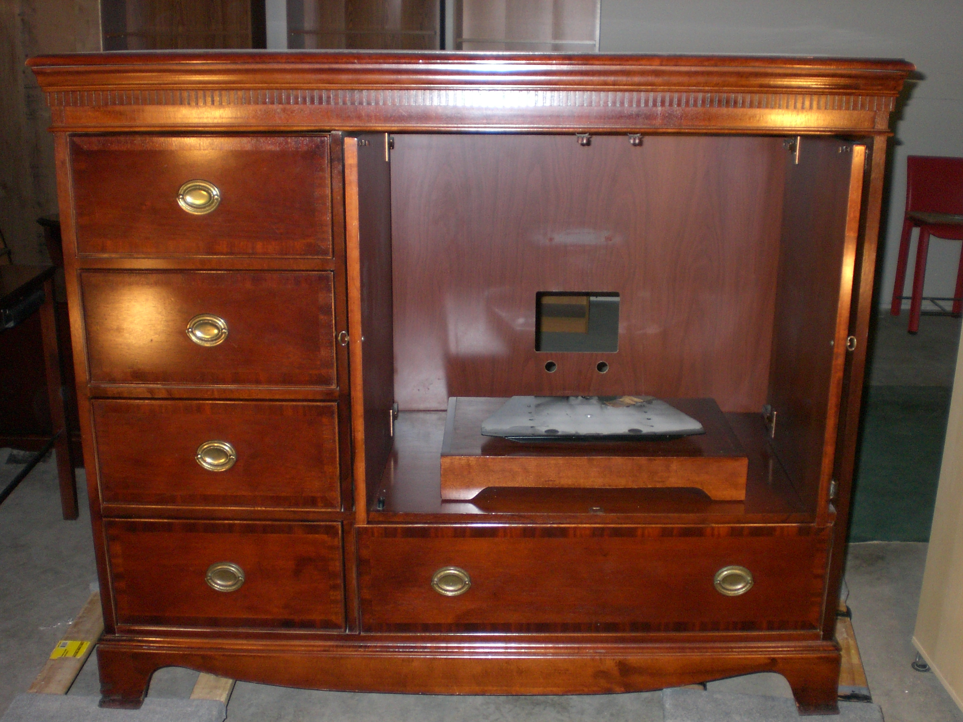 Cmm Furniture Pertaining To Cherry Tv Armoire (View 8 of 20)