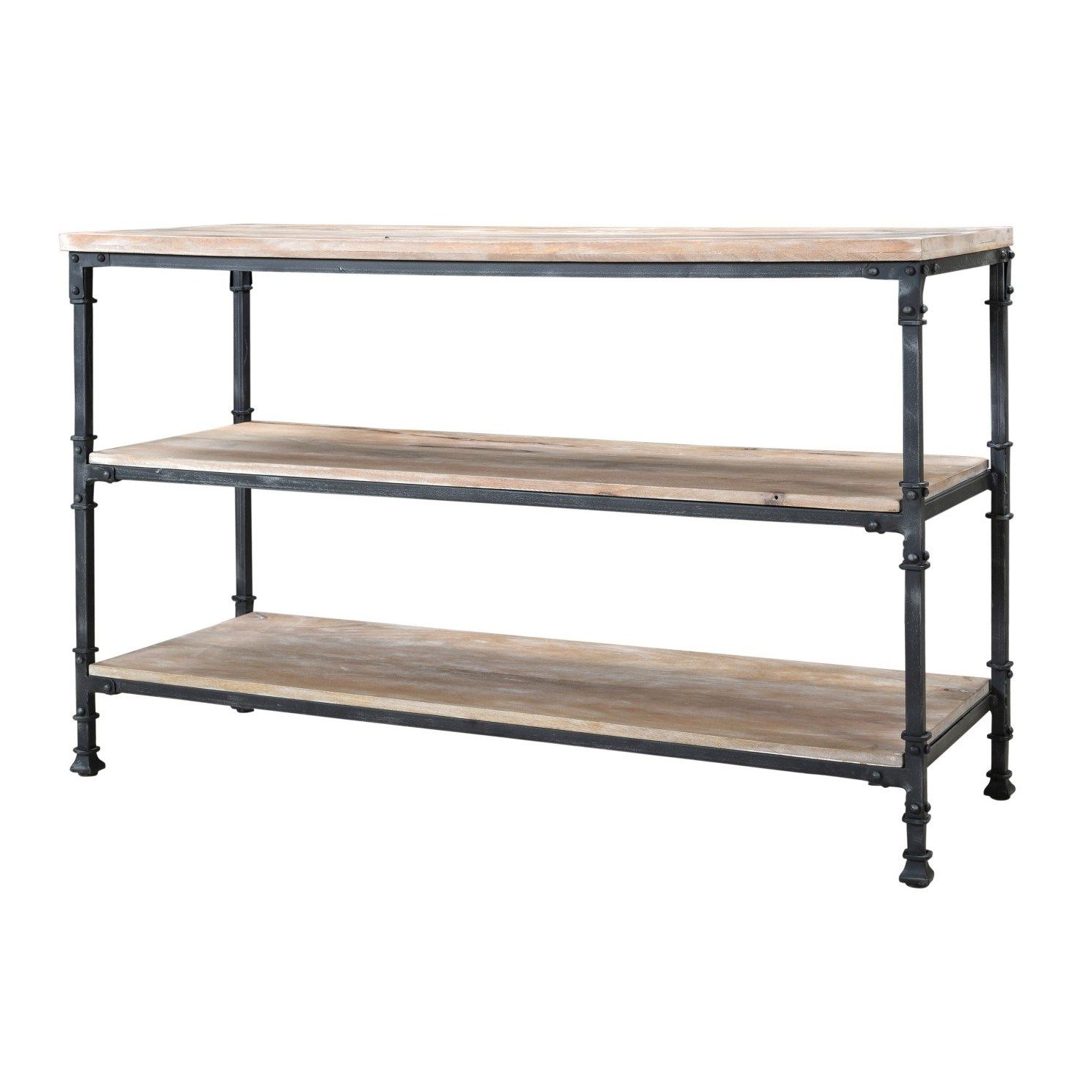Coast To Coast 79709 Industrial Console Table In Aged Gunmetal Within Popular Gunmetal Media Console Tables (View 13 of 20)