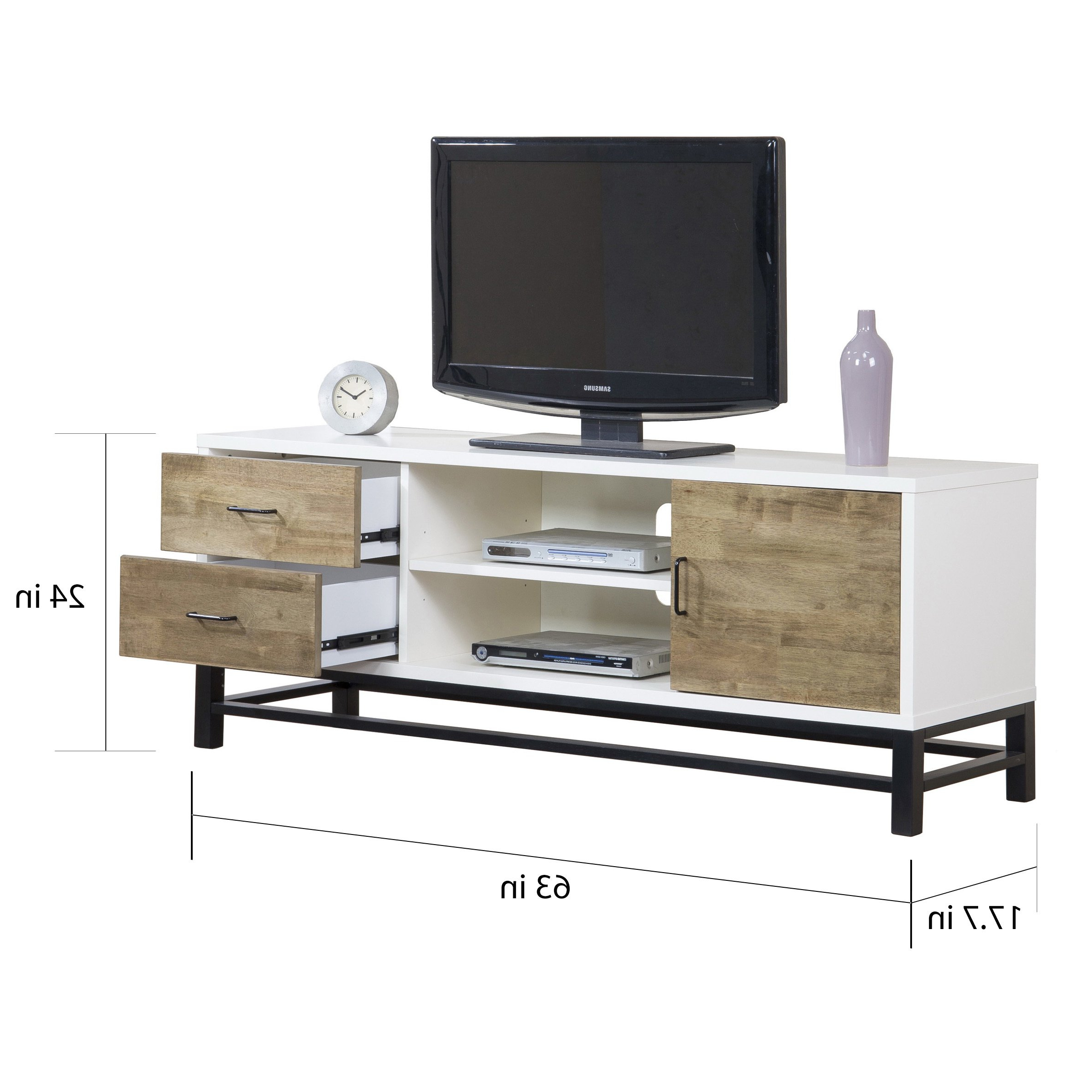 Combs 63 Inch Tv Stands With Preferred Shop Henna 63 Inch Entertainment Center Console – Free Shipping (Gallery 11 of 20)