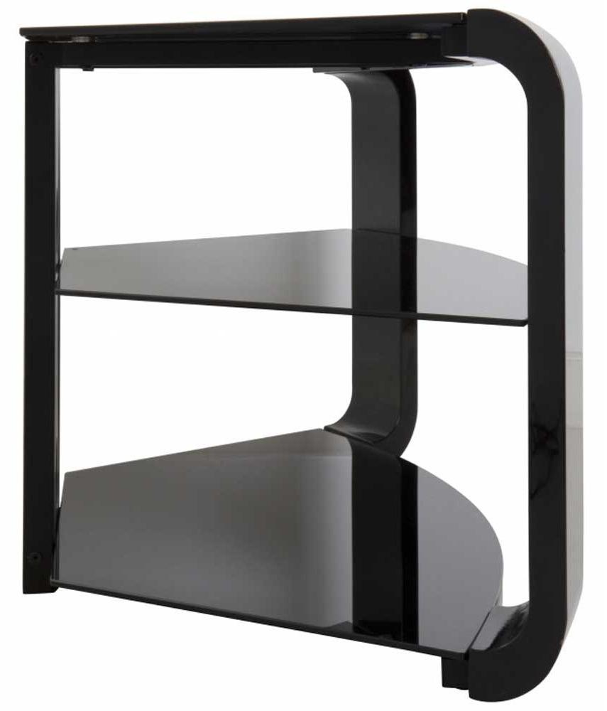 Como Tv Stands Pertaining To Latest Avf Fs1174Cob Como Black Tv Stand (Gallery 3 of 20)