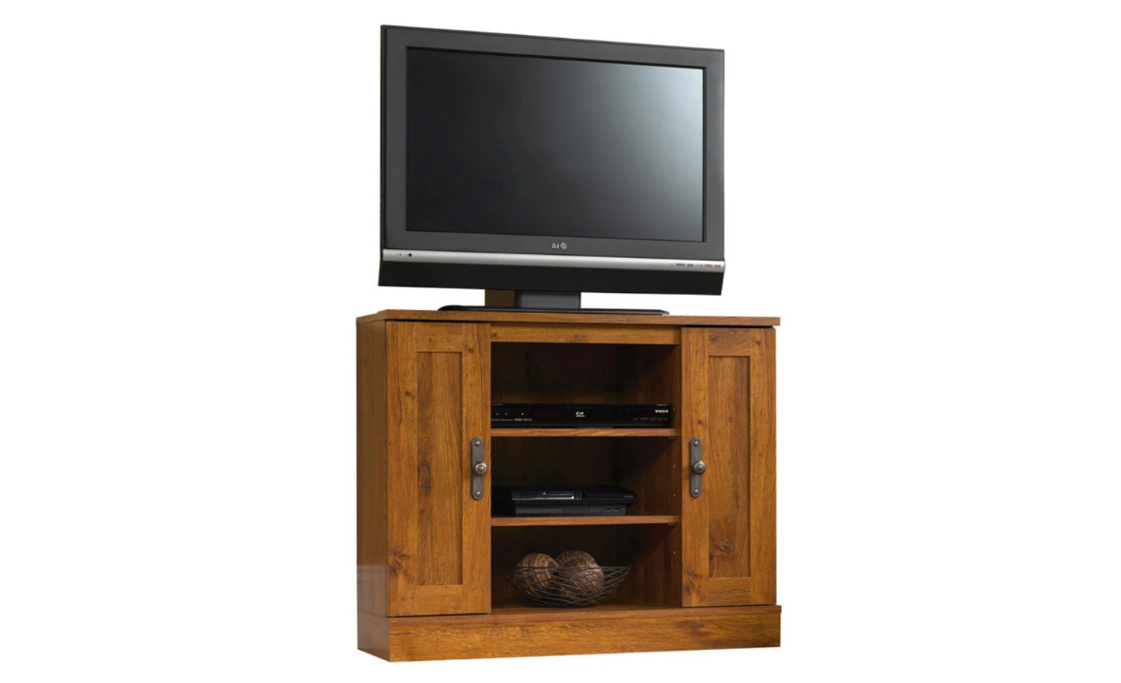 Compact Corner Tv Stands With Regard To Most Popular 14 Best Small Tv Stands For (View 7 of 20)