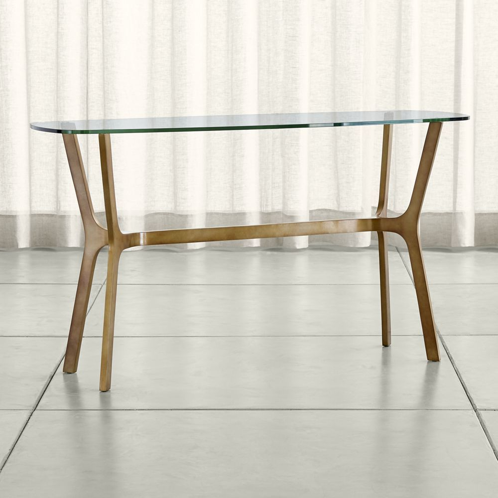 Console Table In Widely Used Elke Marble Console Tables With Brass Base (Gallery 1 of 20)