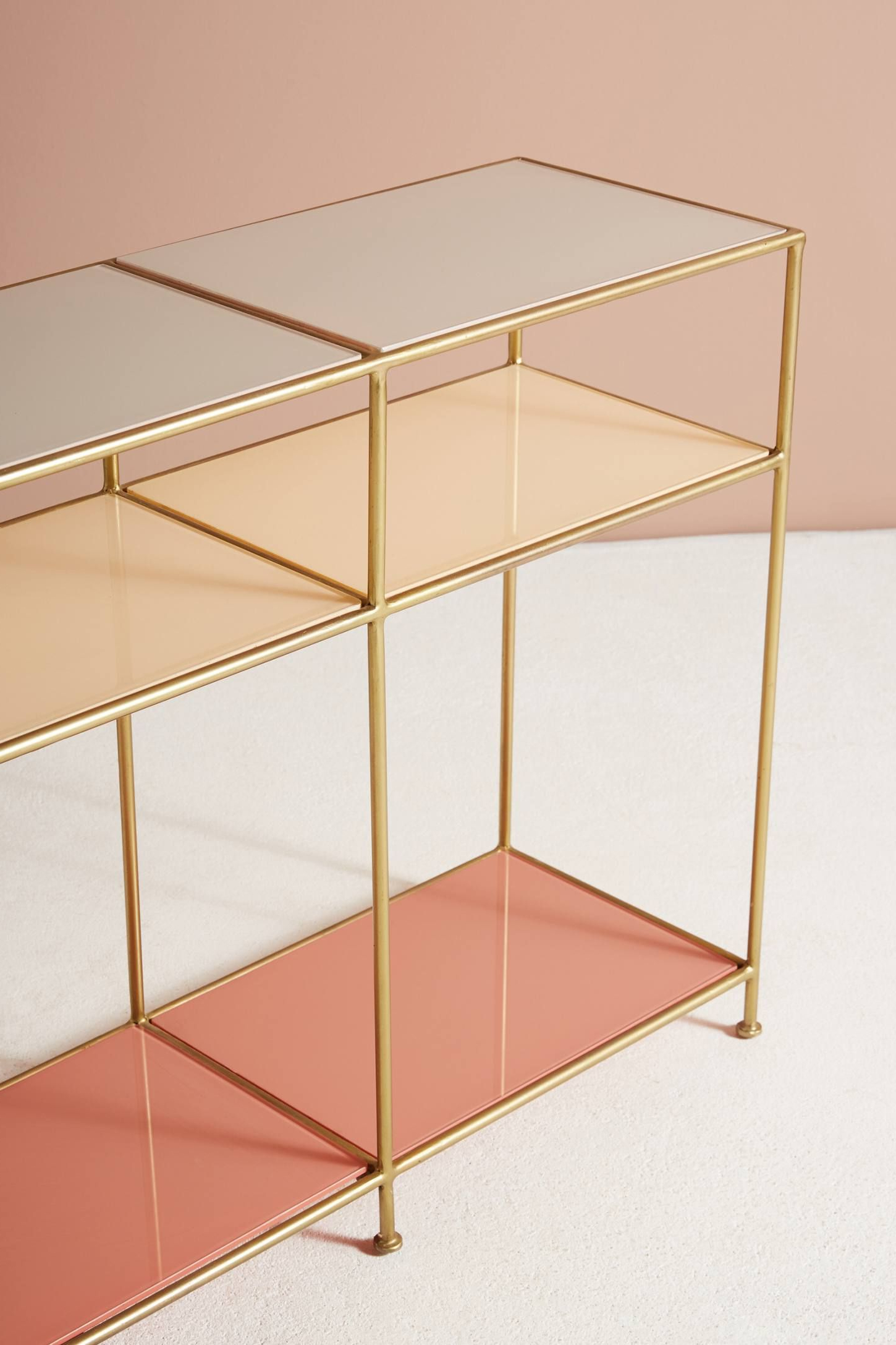 Console Tables, Consoles And Credenza Pertaining To Elke Glass Console Tables With Brass Base (View 15 of 20)