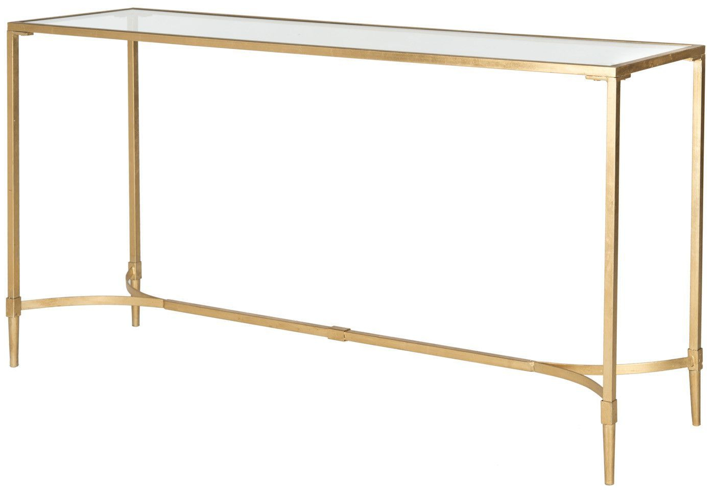 Consoles, Glass And Entry Hall Throughout Elke Glass Console Tables With Brass Base (View 4 of 20)