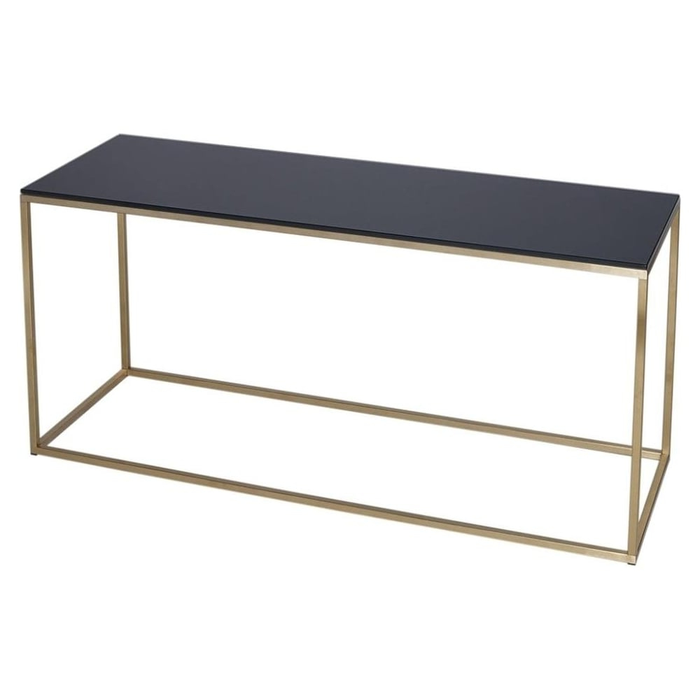 Contemporary Glass Tv Stands Pertaining To Most Recently Released Buy Black Glass And Gold Metal Tv Stand From Fusion Living (Gallery 10 of 20)