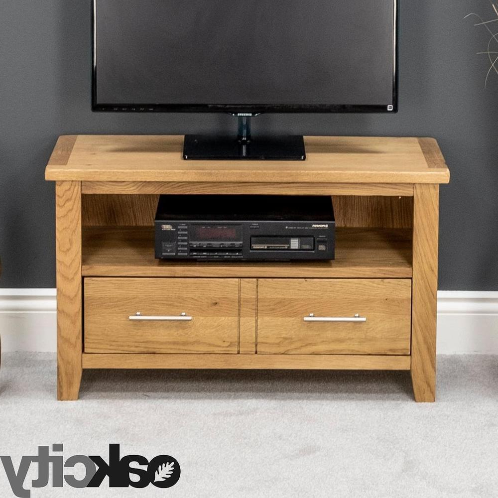 Contemporary Oak Tv Stands In Best And Newest Nebraska Modern Oak Small Tv Unit / Solid Wood Tv Stand / Oiled Tv (View 1 of 20)