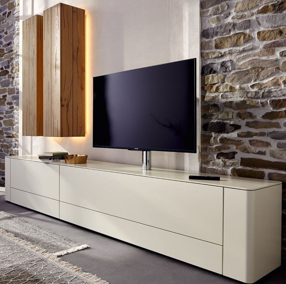 Contemporary Oak Tv Stands Pertaining To Widely Used Contemporary Tv Cabinet / Lacquered Wood / Oak – Gentis – Hülsta (View 4 of 20)