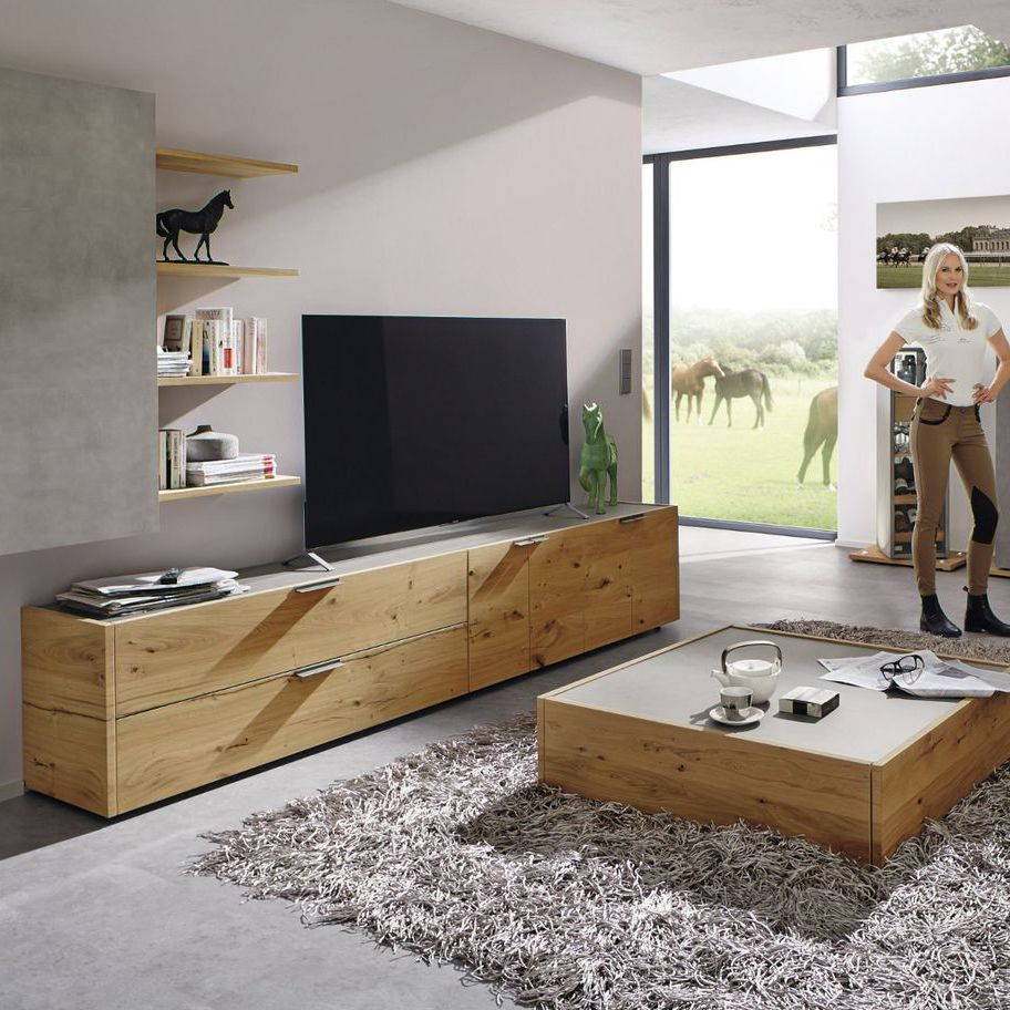 Contemporary Oak Tv Stands With Well Known Contemporary Tv Cabinet / Oak – Fena – Hülsta – Videos (View 7 of 20)