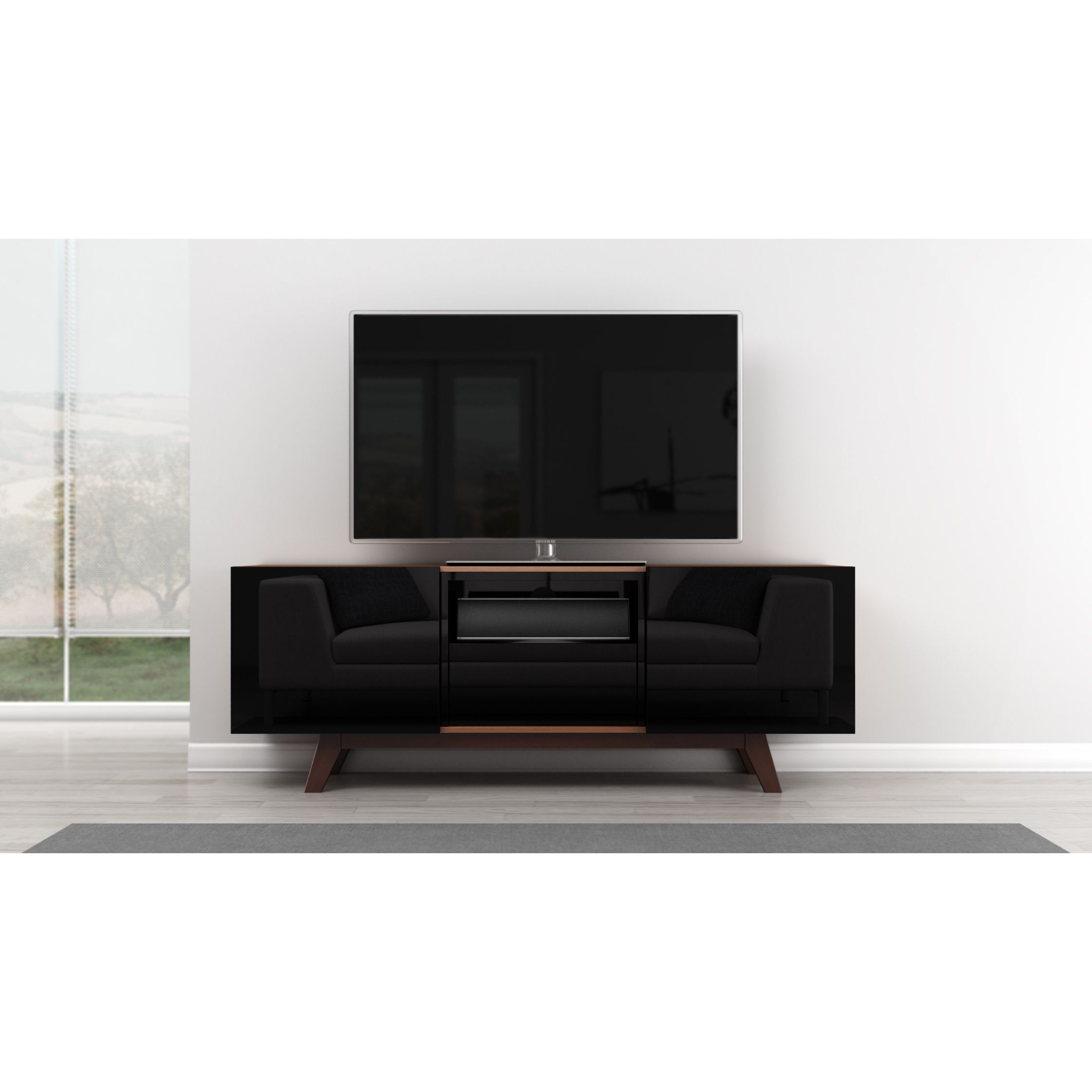 Contemporary Tv Cabinets For Flat Screens Pertaining To Preferred Furnitech Modern 70 Inch Tv Stand Media Console (70 Inch Modern Tv (Gallery 19 of 20)