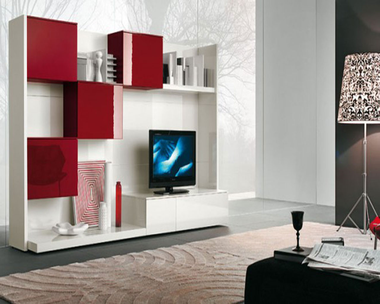 Contemporary Tv Cabinets Regarding Famous Contemporary Tv Wall Unit Designs — All Contemporary Design : Modern (Gallery 16 of 20)