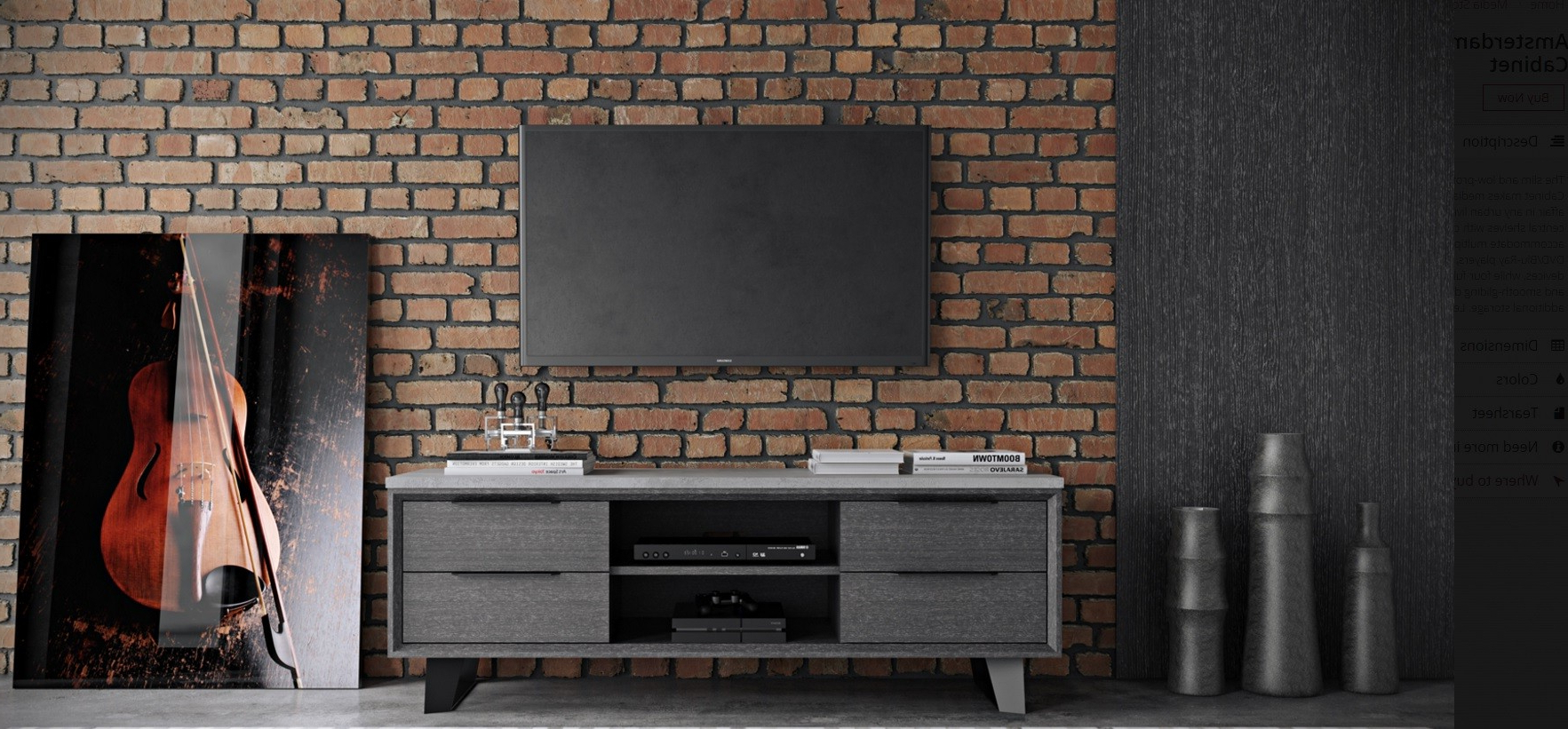 Contemporary Tv Regarding Grey Wood Tv Stands (View 15 of 20)