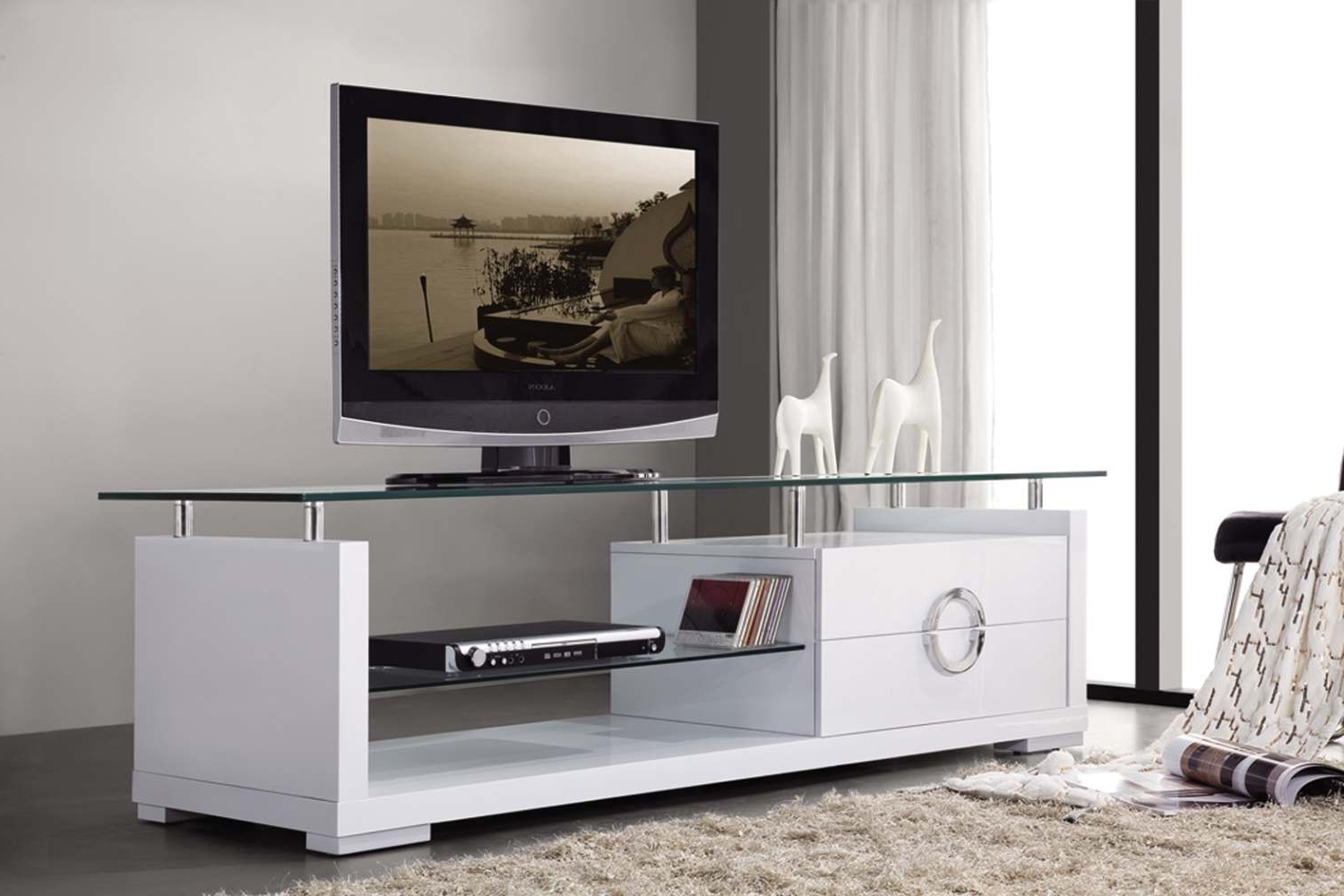 Contemporary Tv Stands Regarding Modern Glass Tv Stands (Gallery 15 of 20)